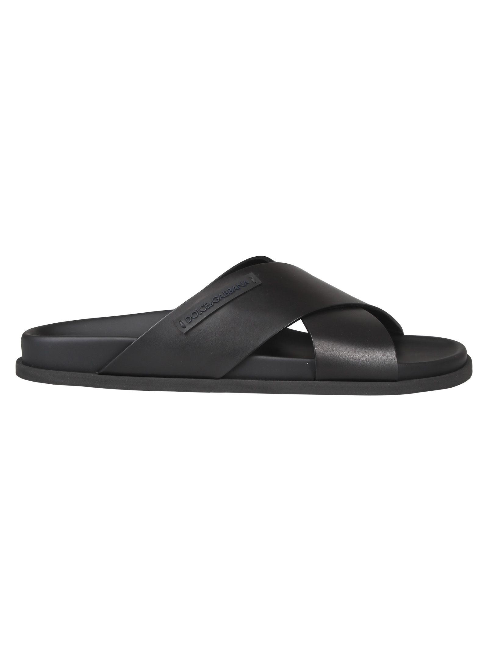 d9195ba4c Dolce   Gabbana Dolce   Gabbana Cross Strap Sandals - Black ...