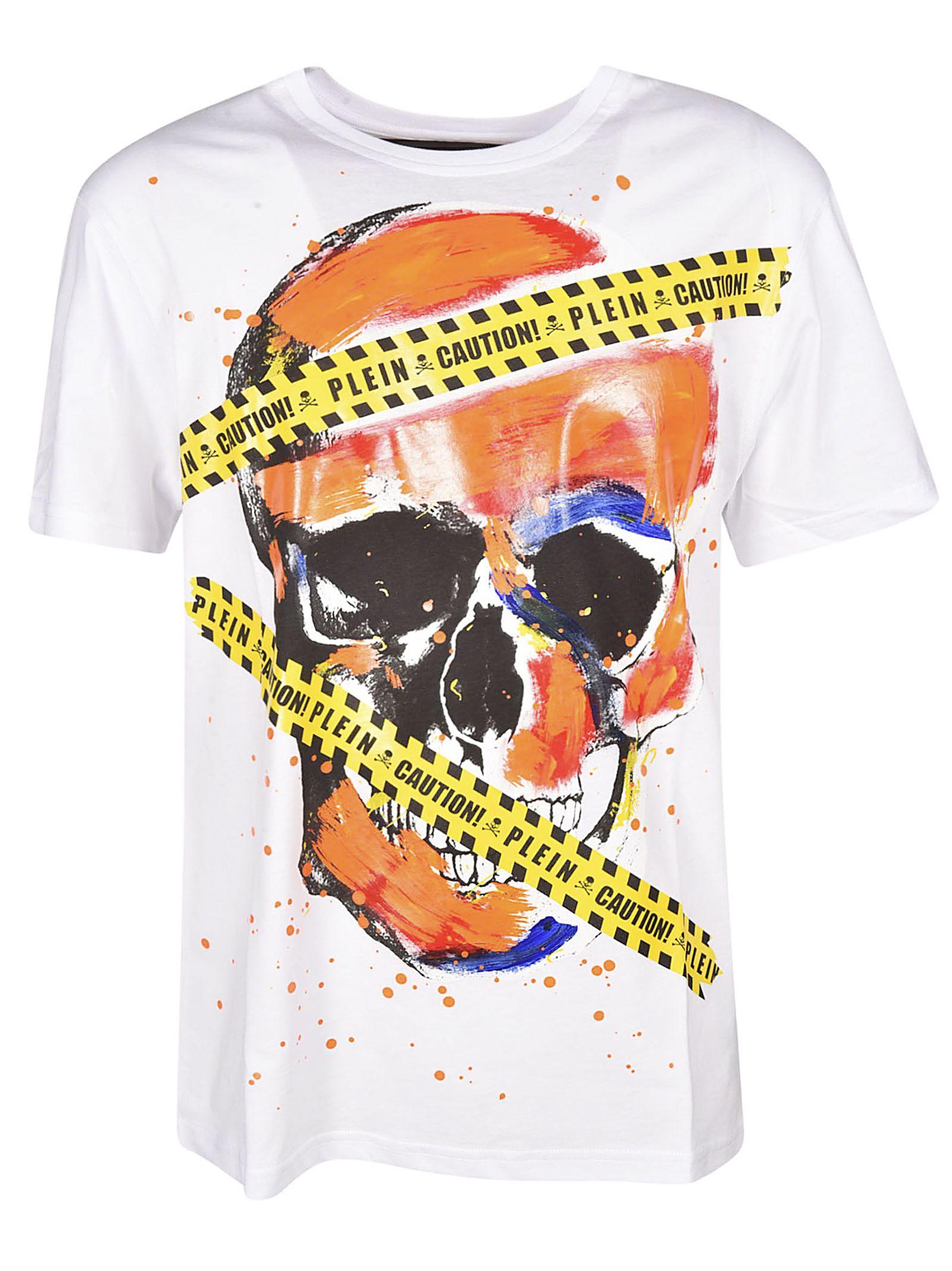 a5f22fc6aa Philipp Plein Philipp Plein Skull Print T-shirt - Bianco - 10819286 ...