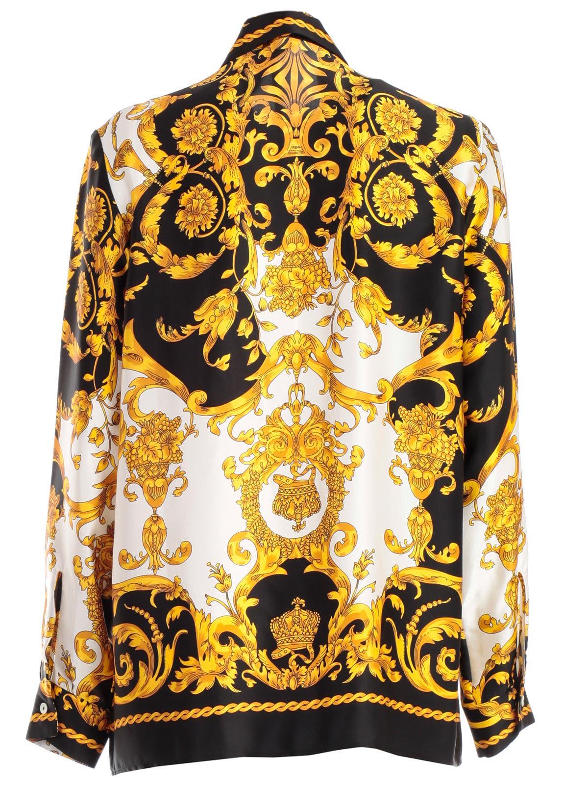 34c09340 Parosh Parosh Baroque Print Shirt - Fant Blk - 10774412   italist
