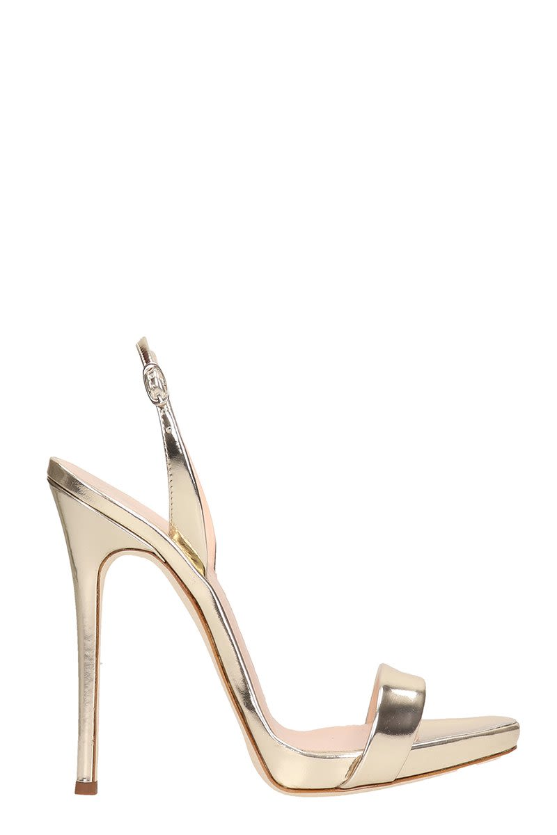 32ac993f2441b Giuseppe Zanotti Sophie Platinum Mirrored Patent Leather Sandals - platinum  ...