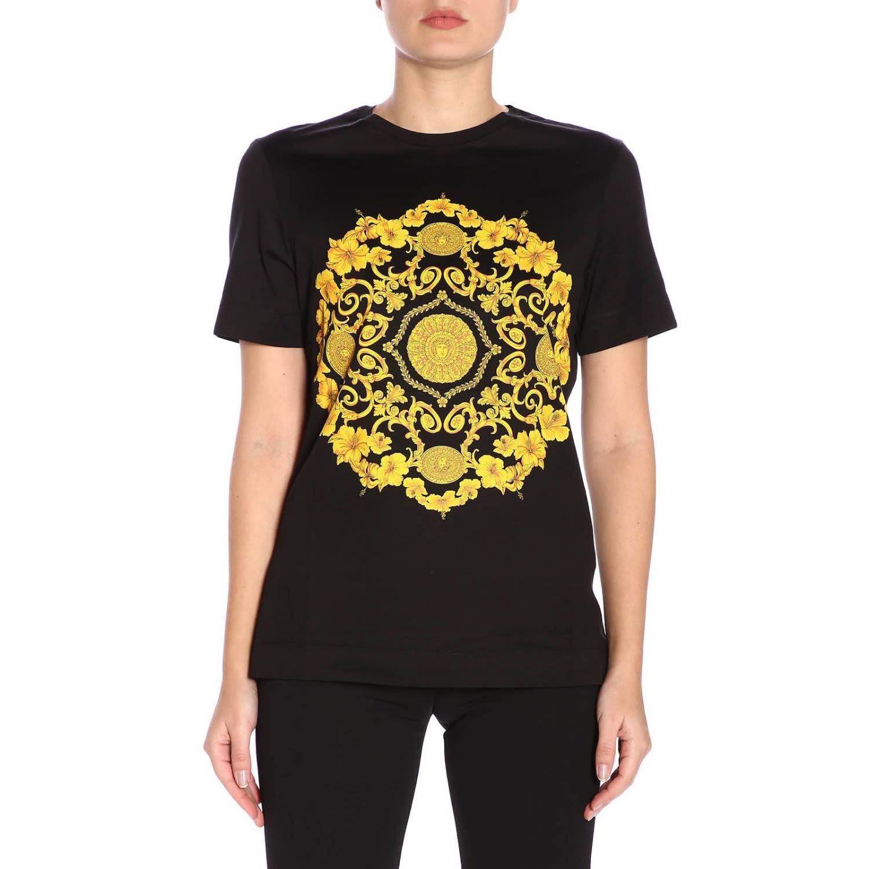 25b60627 Versace Versace T-shirt T-shirt Women Versace - black - 10791274 ...