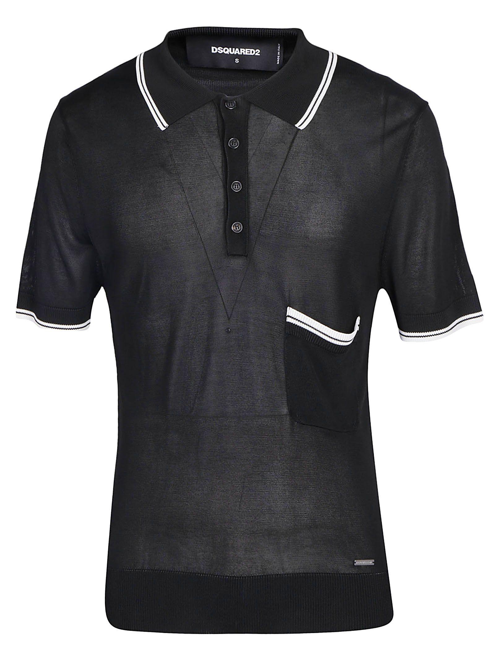 f7516b03 Dsquared2 Dsquared2 Knit Polo Shirt - Black - 10925872 | italist