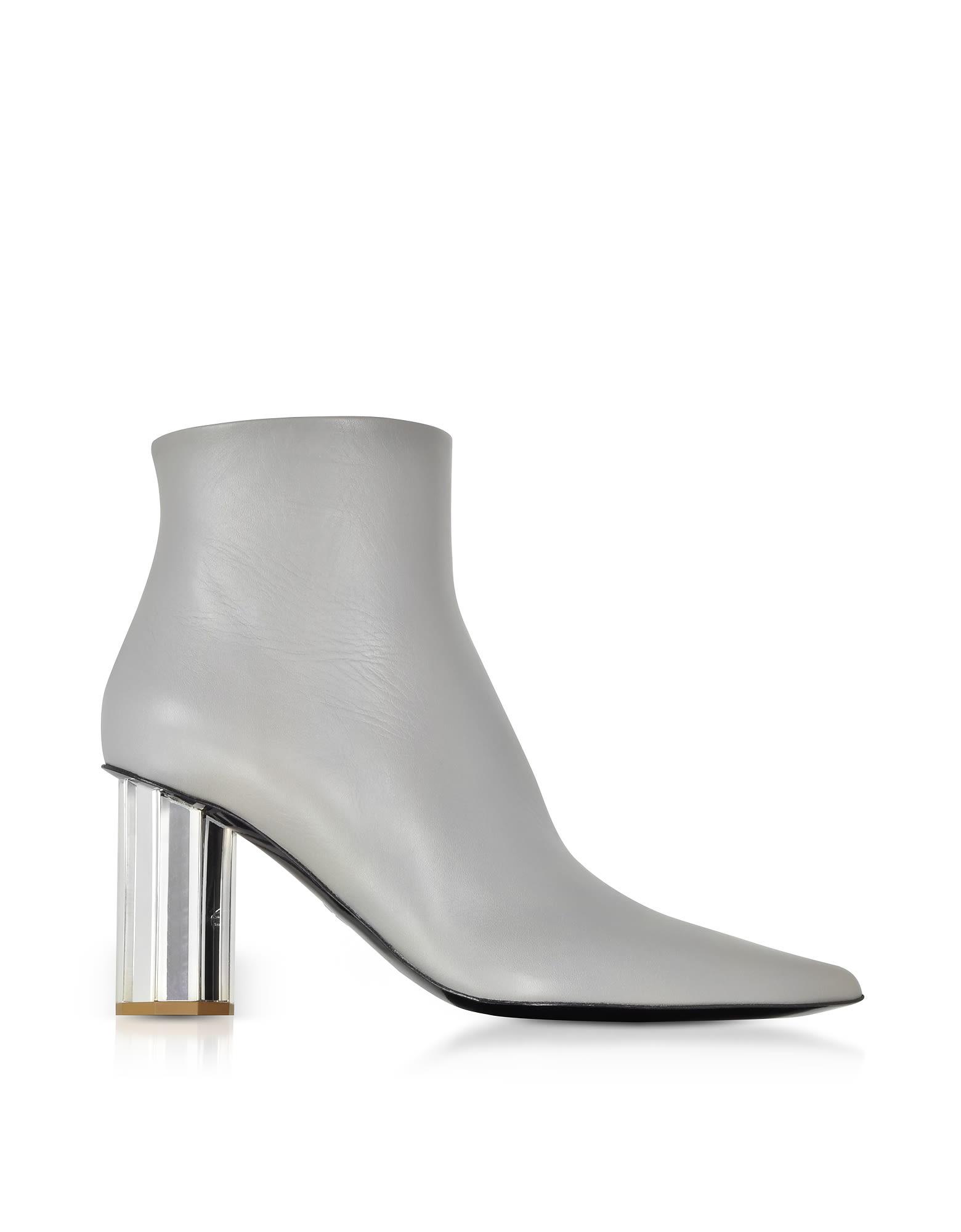 c9f0b5592ca Proenza Schouler Proenza Schouler Taupe Gray Leather Mirror Heel ...