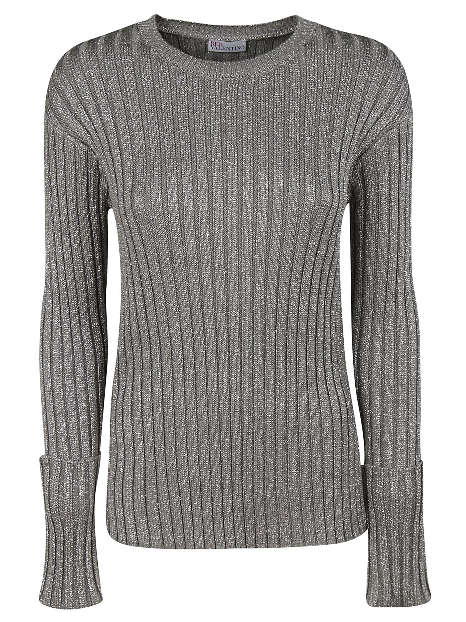 58648031a6 RED Valentino Red Valentino Knitted Sweater - Silver - 10805888 ...