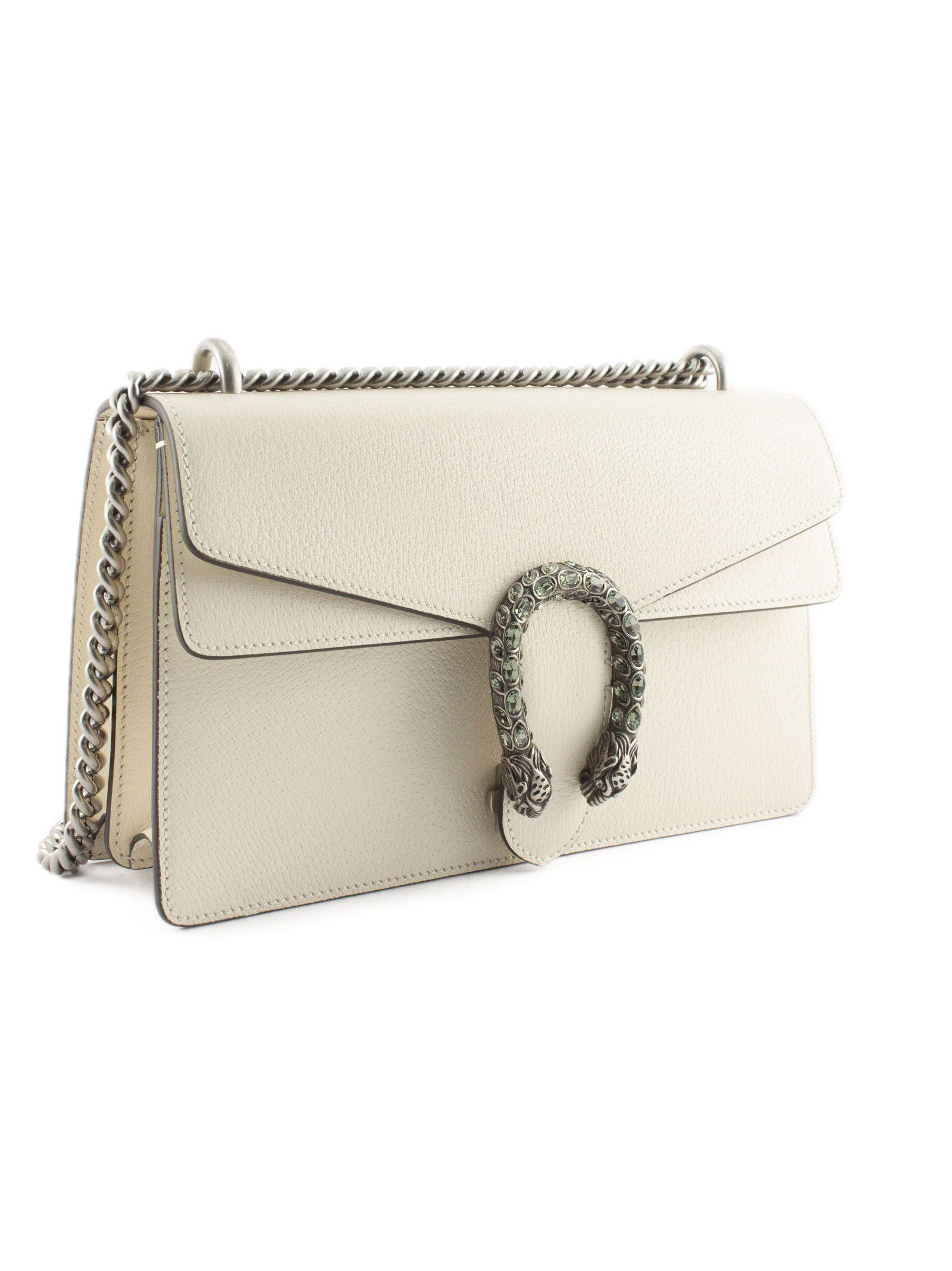 4040f1c3c5f Gucci Gucci White Leather Dionysus Shoulder Bag - Panna - 10825133 ...