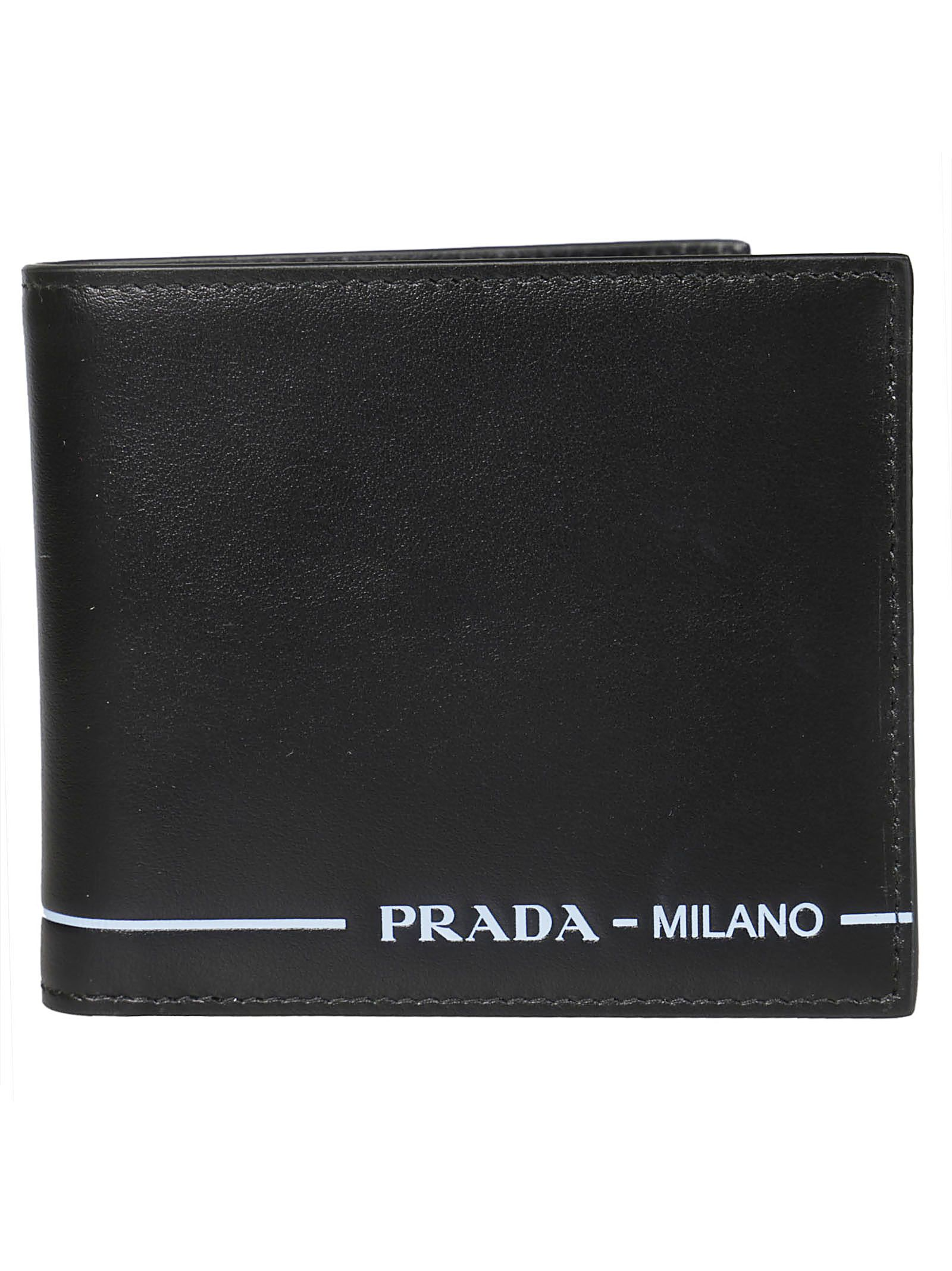 03f9229e6791 Prada Prada Logo Flap Wallet - Black - 10855831
