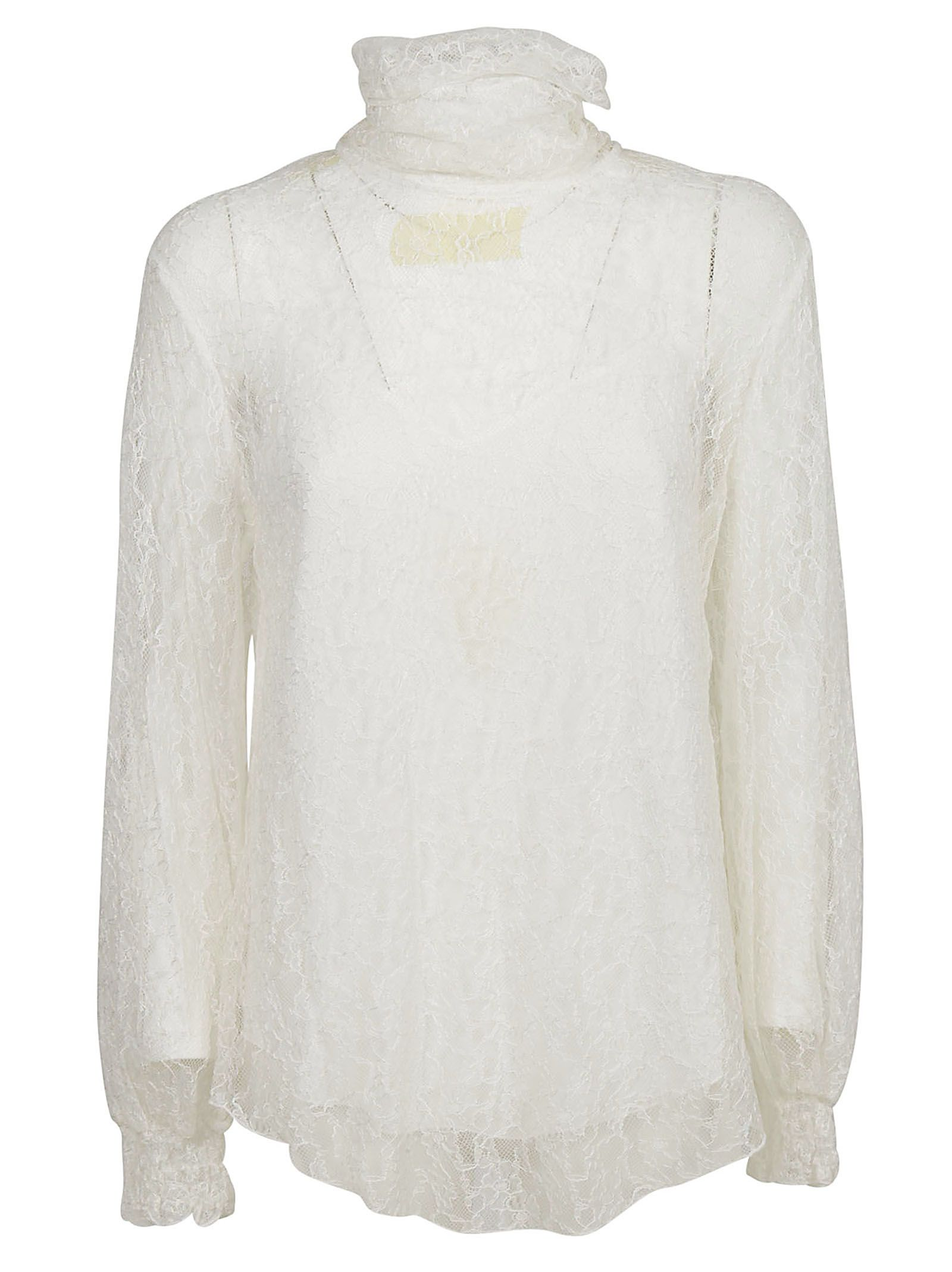 e7436b2e87aa67 See by Chloé See By Chloé Lace Blouse - Bianco - 10801687   italist