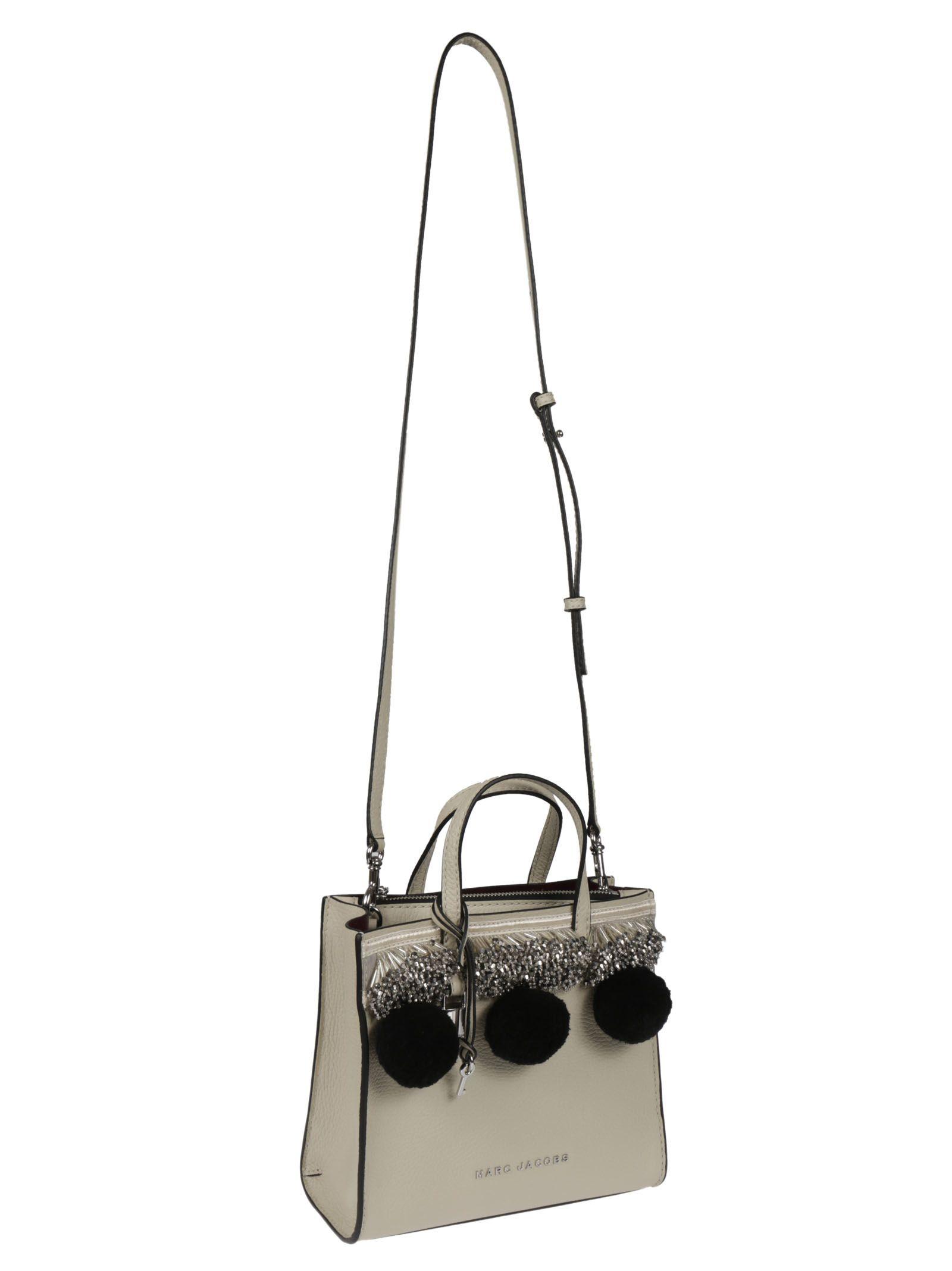 8f5c84f84ec4 Marc Jacobs Marc Jacobs Beads Pompoms Mini Grind Bag - White - 10261492
