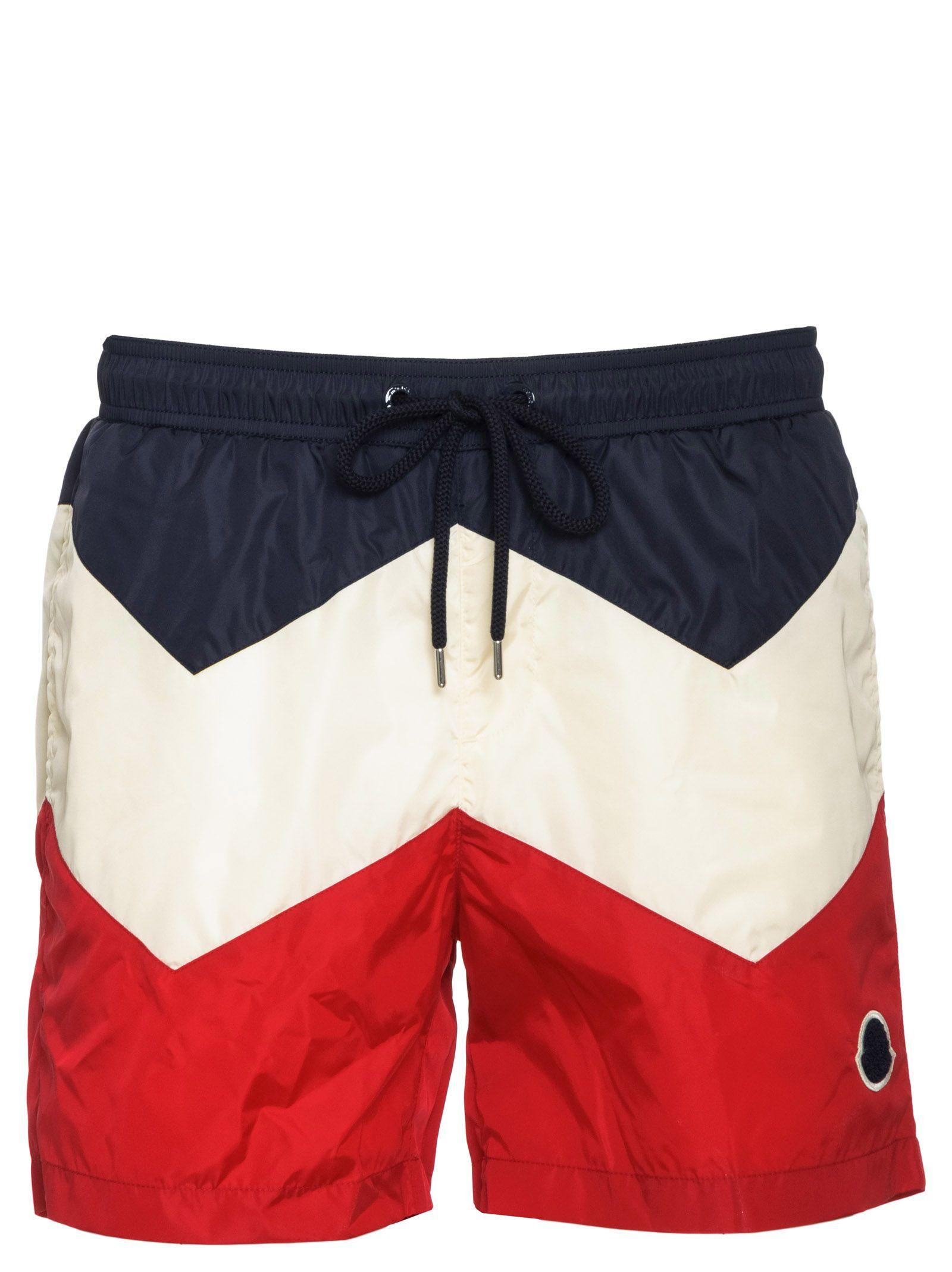 b4c420bd5 Moncler Moncler Tricolor Swim Shorts - Navy/white/red - 10848787 ...