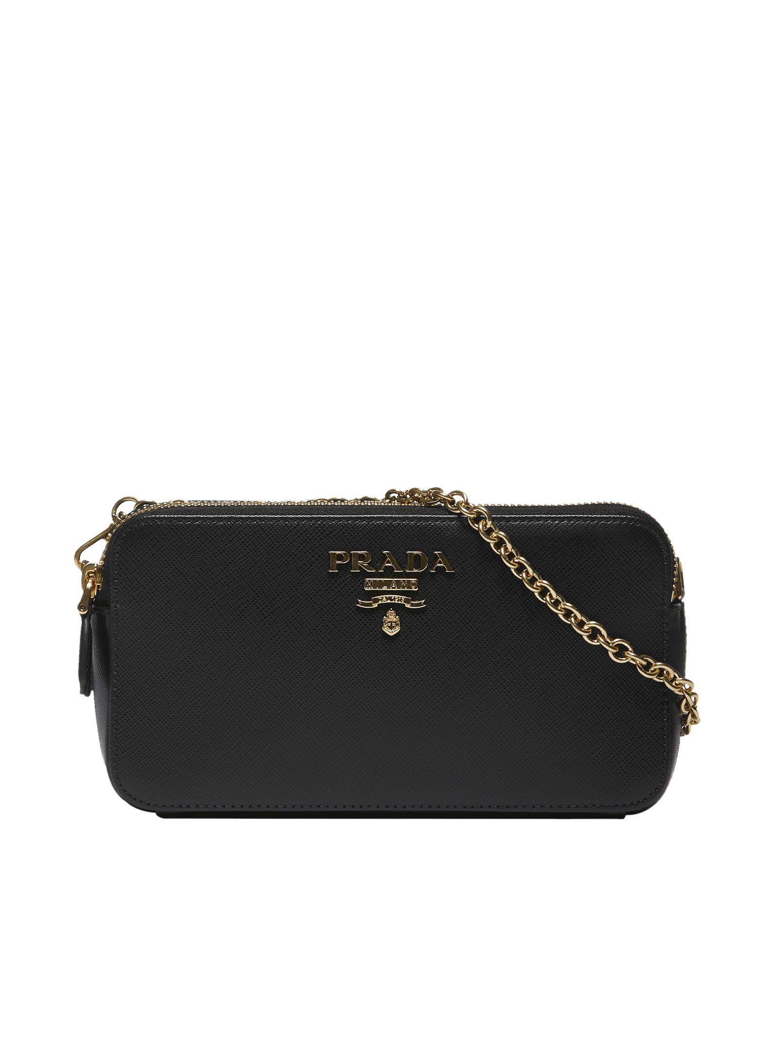 16a5e67f9a Prada Prada Mini Logo Shoulder Bag - Black - 10786947