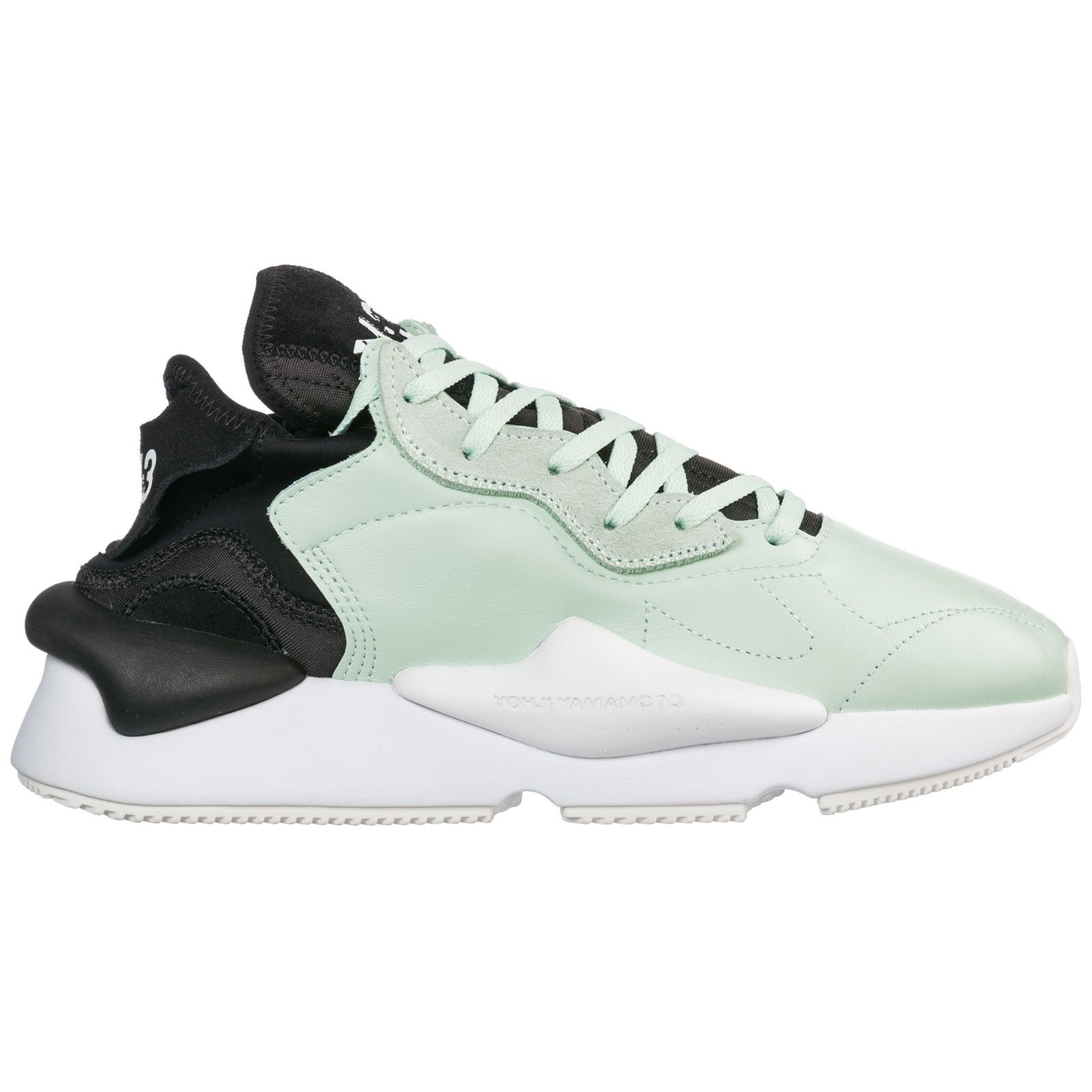 46637609b5ba9 Y-3 Y-3 Shoes Leather Trainers Sneakers Kaiwa - Green - 10901948 ...