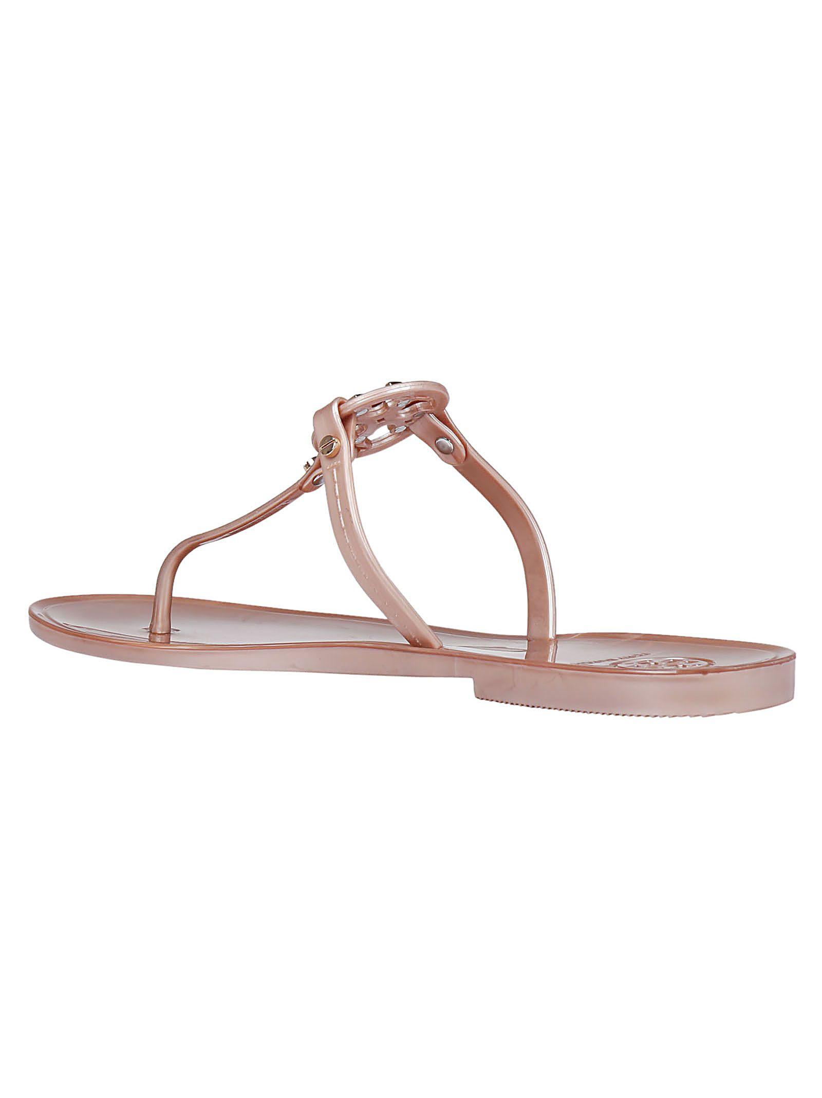 65669a90a Tory Burch Tory Burch Mini Miller Flat Sandals - Rose gold ...