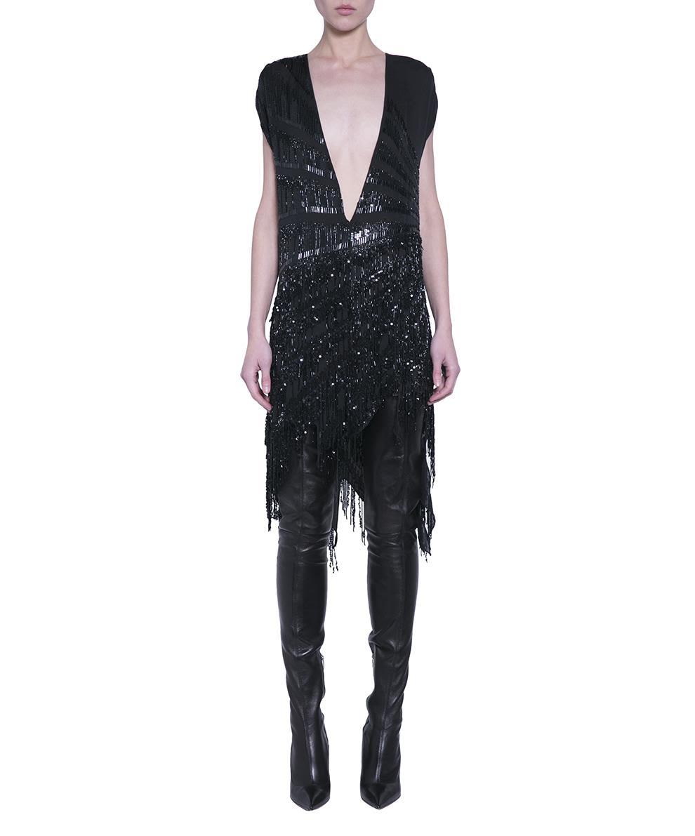 1a9f84731aca6 Amen Asymmetric Silk Dress - NERO ...