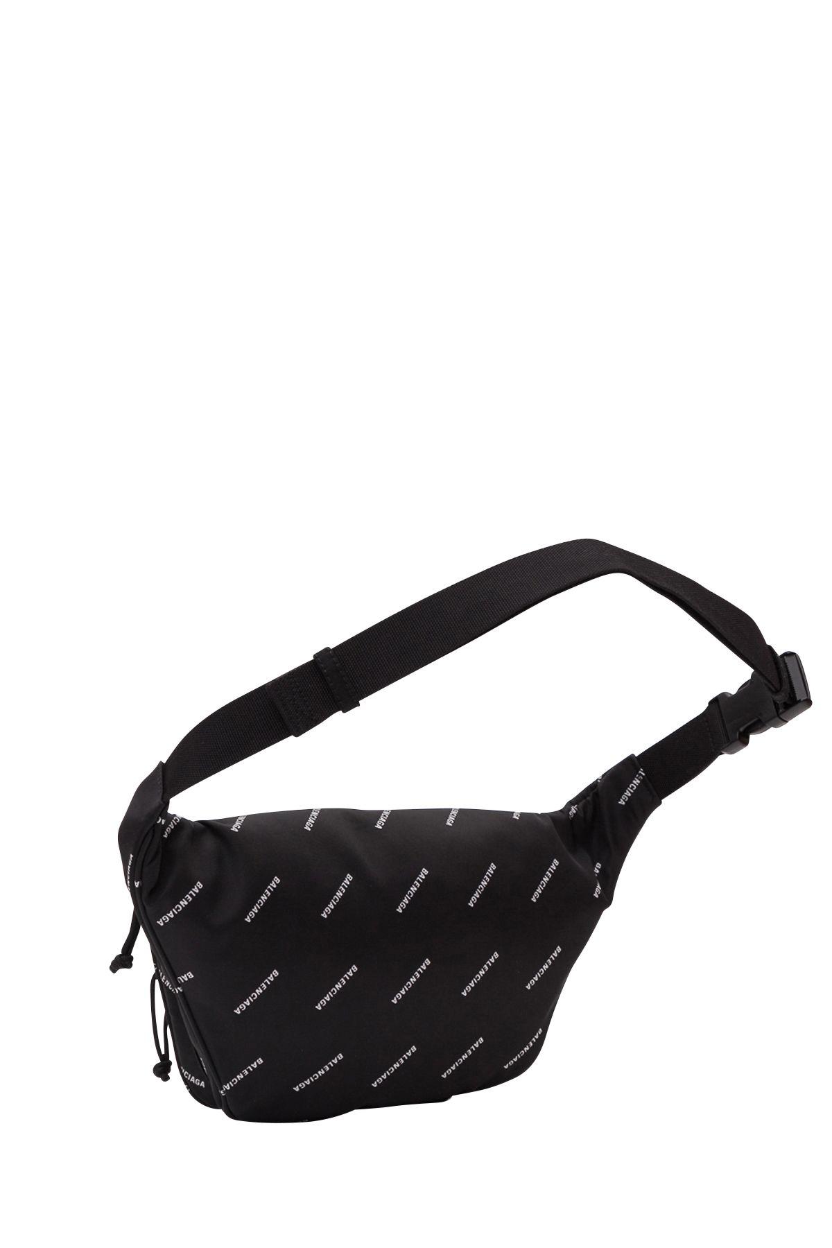 566fdbd0a13 Balenciaga Balenciaga Explorer Belt Bag Logos - Black - 10903650 ...