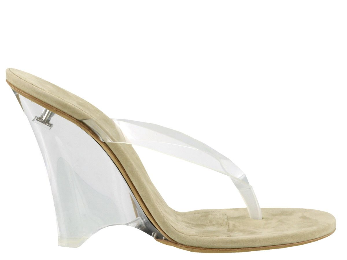 3ece209cc Yeezy Yeezy Wedge Thong Sandals In Soft Pvc - Clear - 10914636