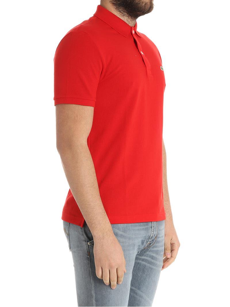 Lacoste Lacoste Lacoste Cotton Piqu Polo Shirt Red 10809809