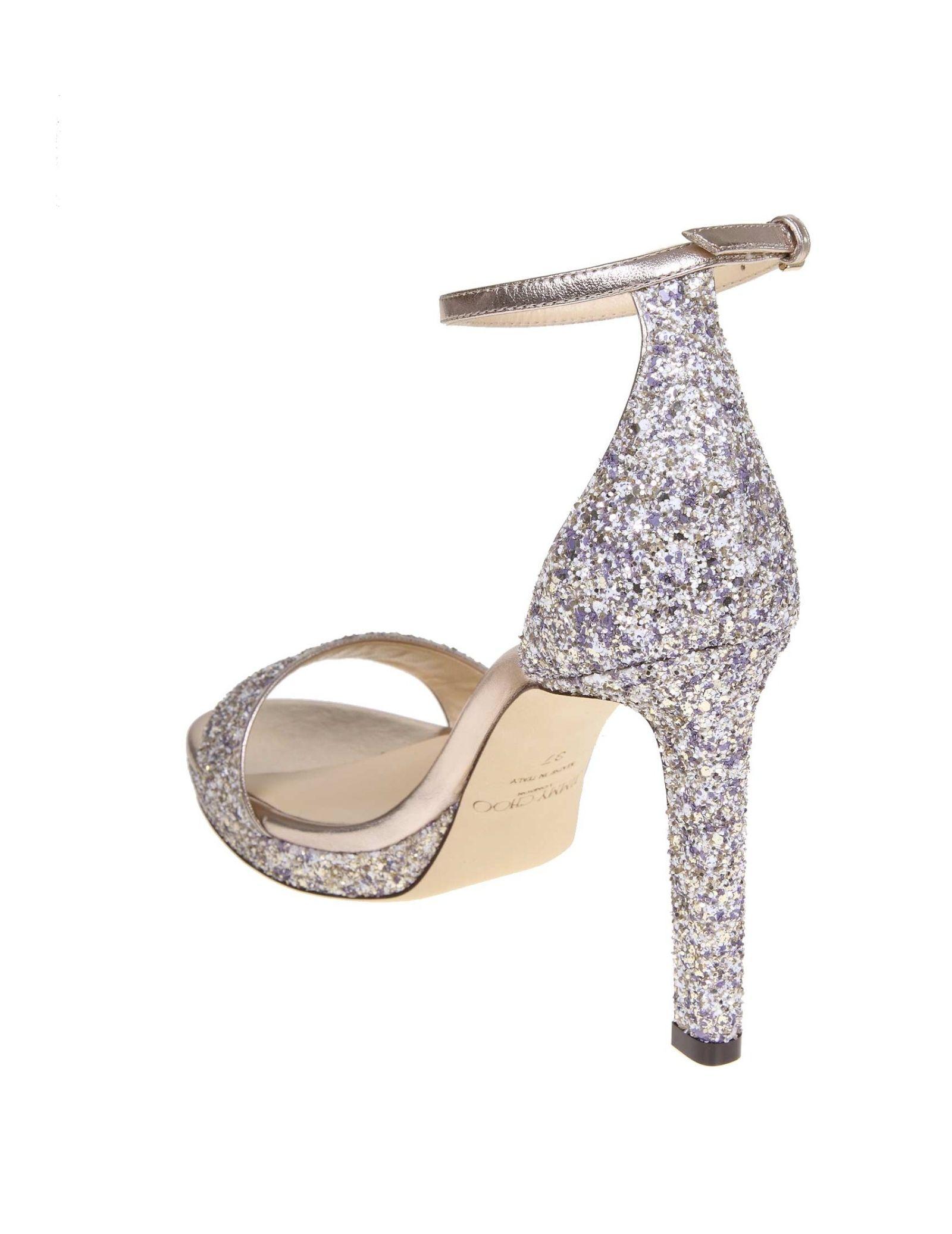 e9c1c3ec3fe Jimmy Choo Jimmy Choo Sandal Misty 100 In Glitter - Gray - 10815707 ...