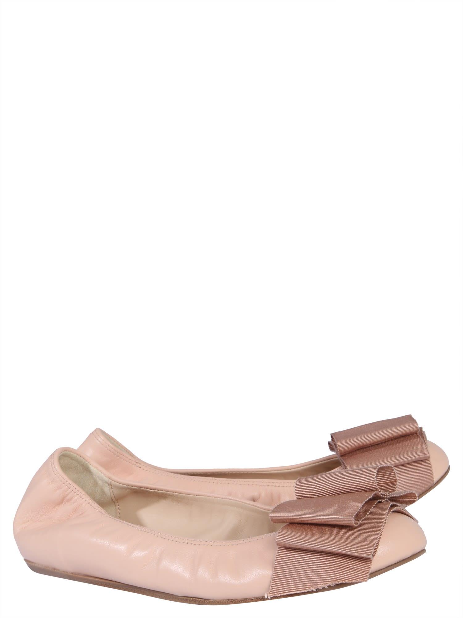 0a5a72c60d9c9 Lanvin Lanvin Bow Trim Ballerinas - NUDE - 10923779 | italist