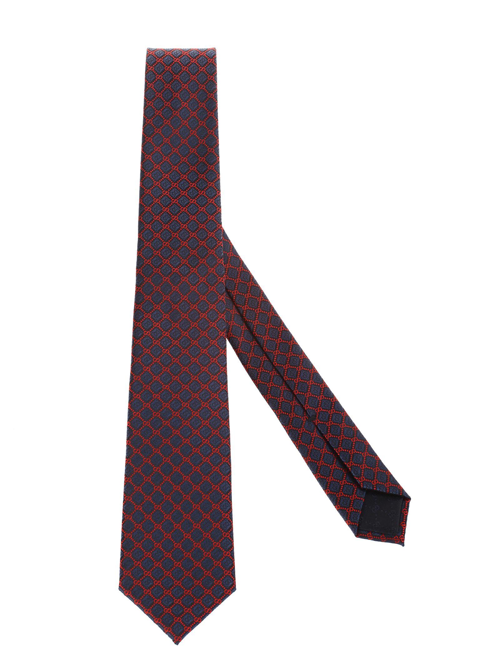 6674d4f3e Gucci Gucci silk jacquard tie - Blu - 10977947 | italist