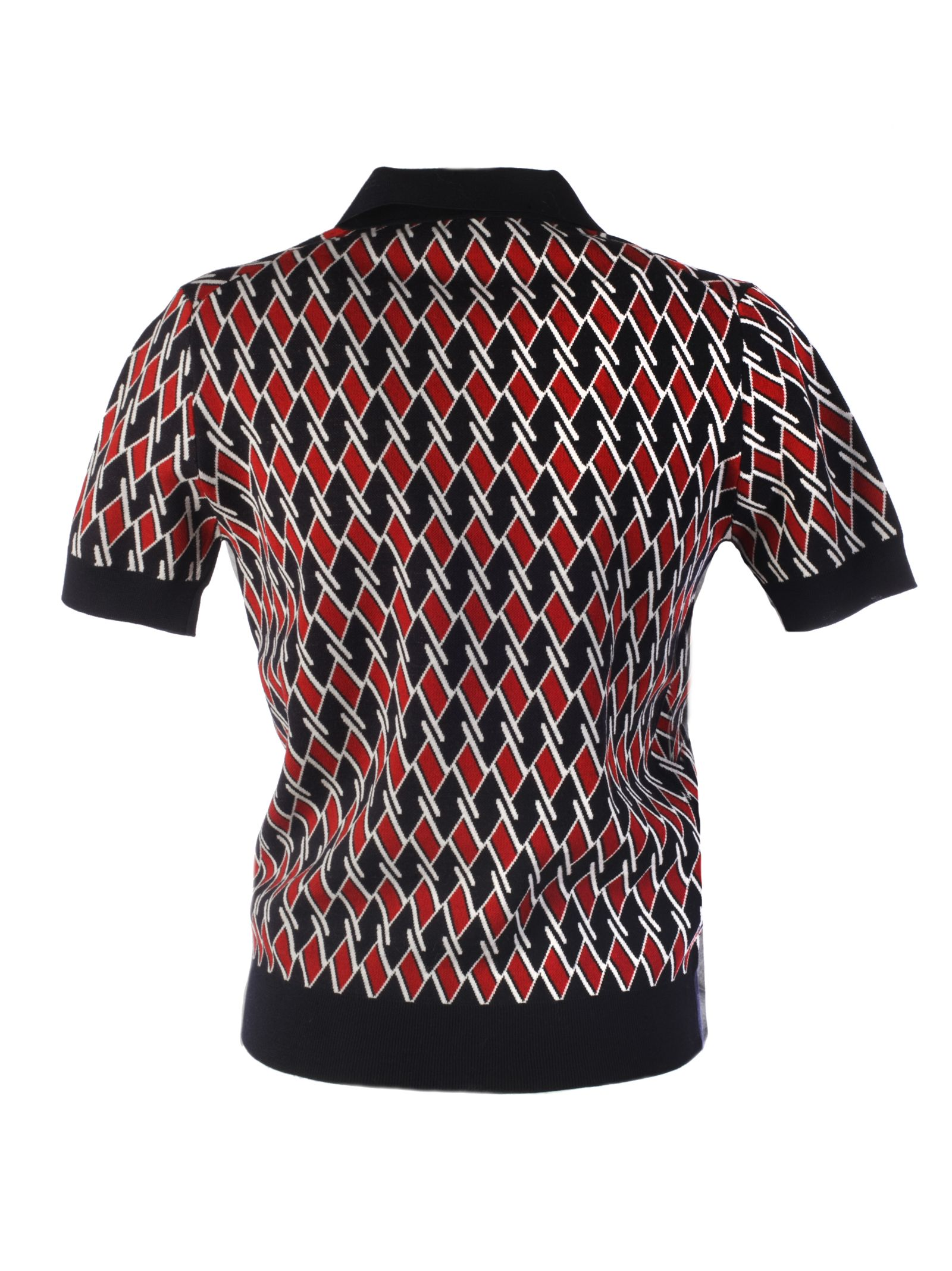 17d521fa55ce1 Prada Geometric Polo Shirt - Basic Prada Geometric Polo Shirt - Basic
