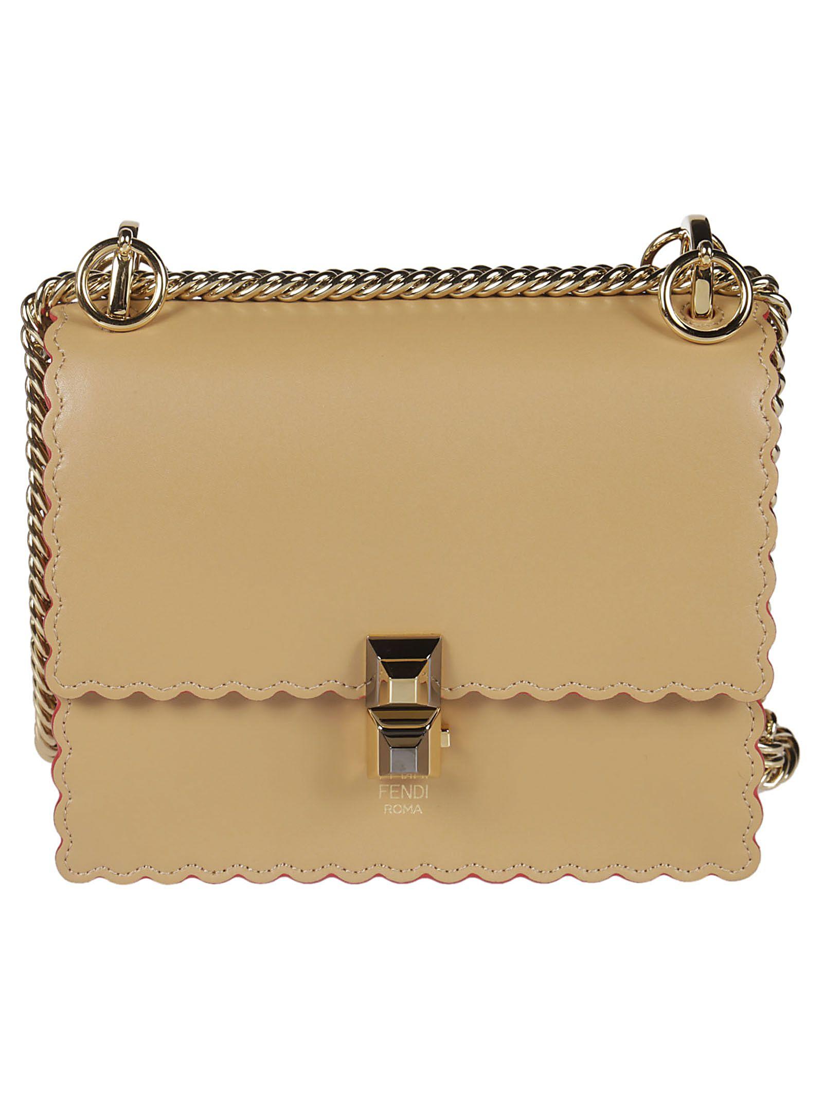 e5ee81cef7eb Fendi Fendi Scalloped Shoulder Bag - honey - 10805950
