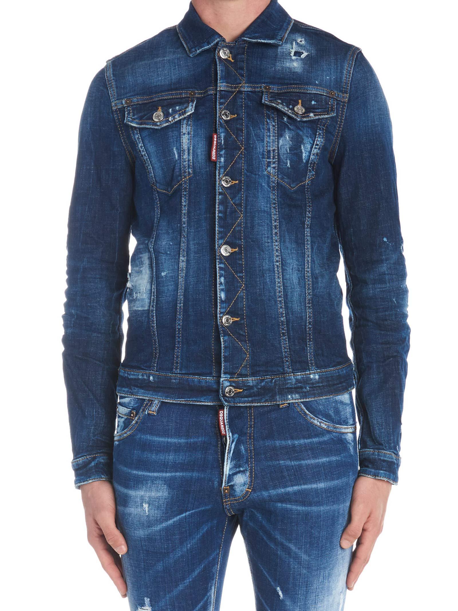 f9eeb395277 Dsquared2 Dsquared2  classic Jean  Jacket - Blue - 10787529