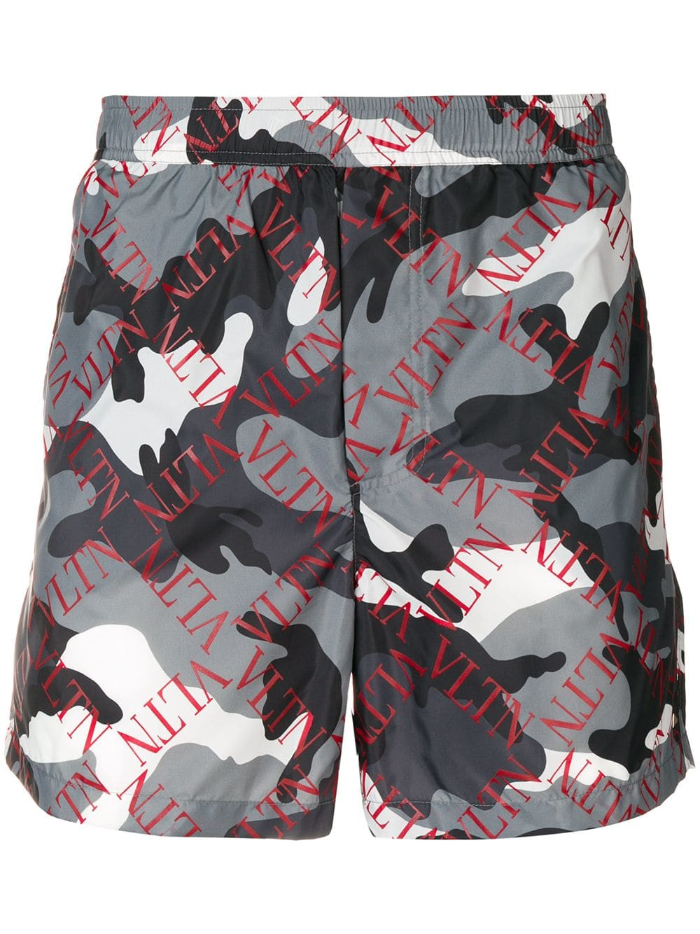 18cfa1d2f4db4 Valentino Valentino Vltn Logo Swim Shorts - Camou Grey/red ...