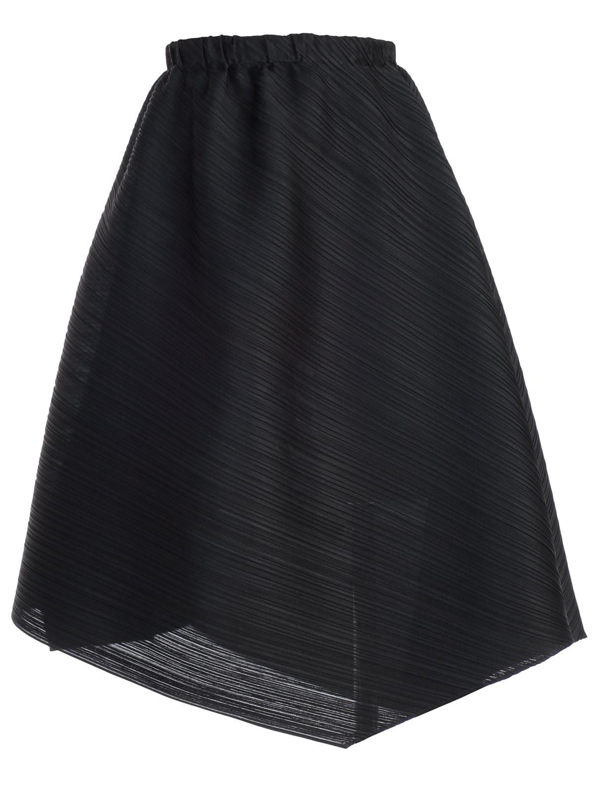 Pleats Please Issey Miyake Pleats Please By Issey Miyake Asymmetric Pleated  Skirt - Black ... 3e7f82f6219fc
