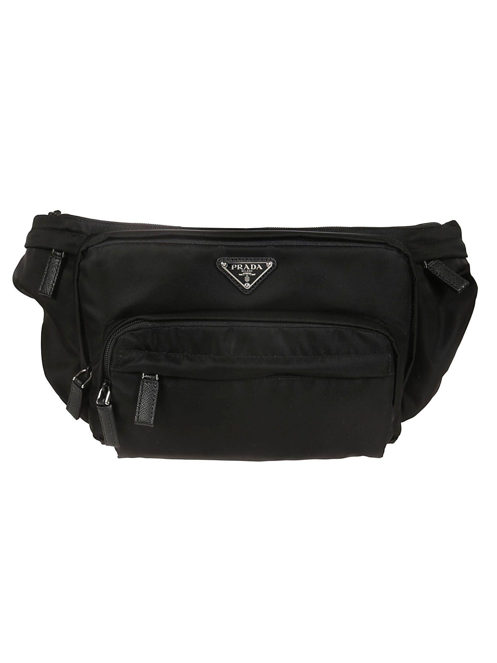 3341e927bf7203 Prada Prada Logo Plaque Belt Bag - Black - 10831244 | italist