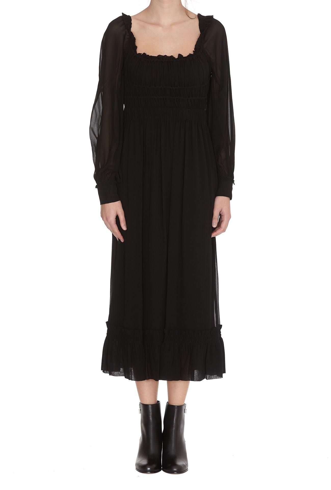ddd9ff99d3bcb Proenza Schouler Proenza Schouler Square Neck Dress - Black ...