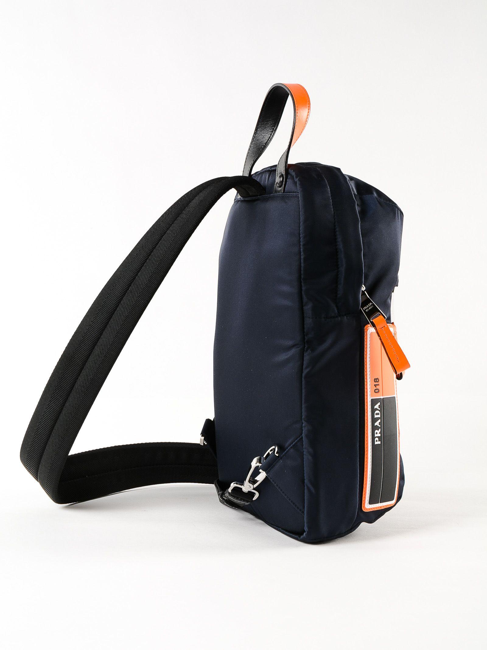 4459c9d29bcb Prada Prada One-shoulder Backpack - Xvt Blu/arancio Fluo - 10775201 ...