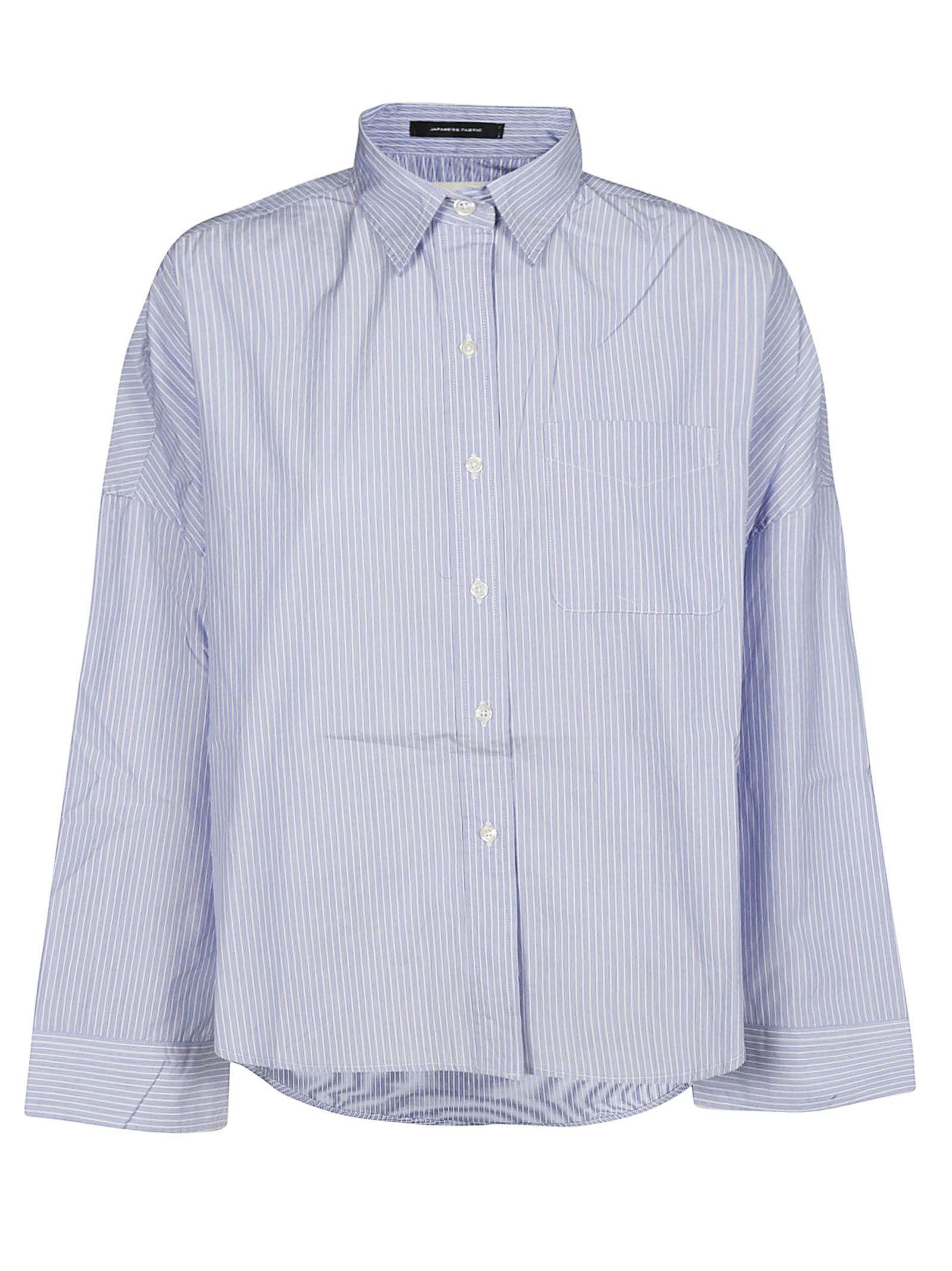 cf67376b05 R13 R13 Striped Print Cropped Shirt - Light Blue/White - 10831024 ...