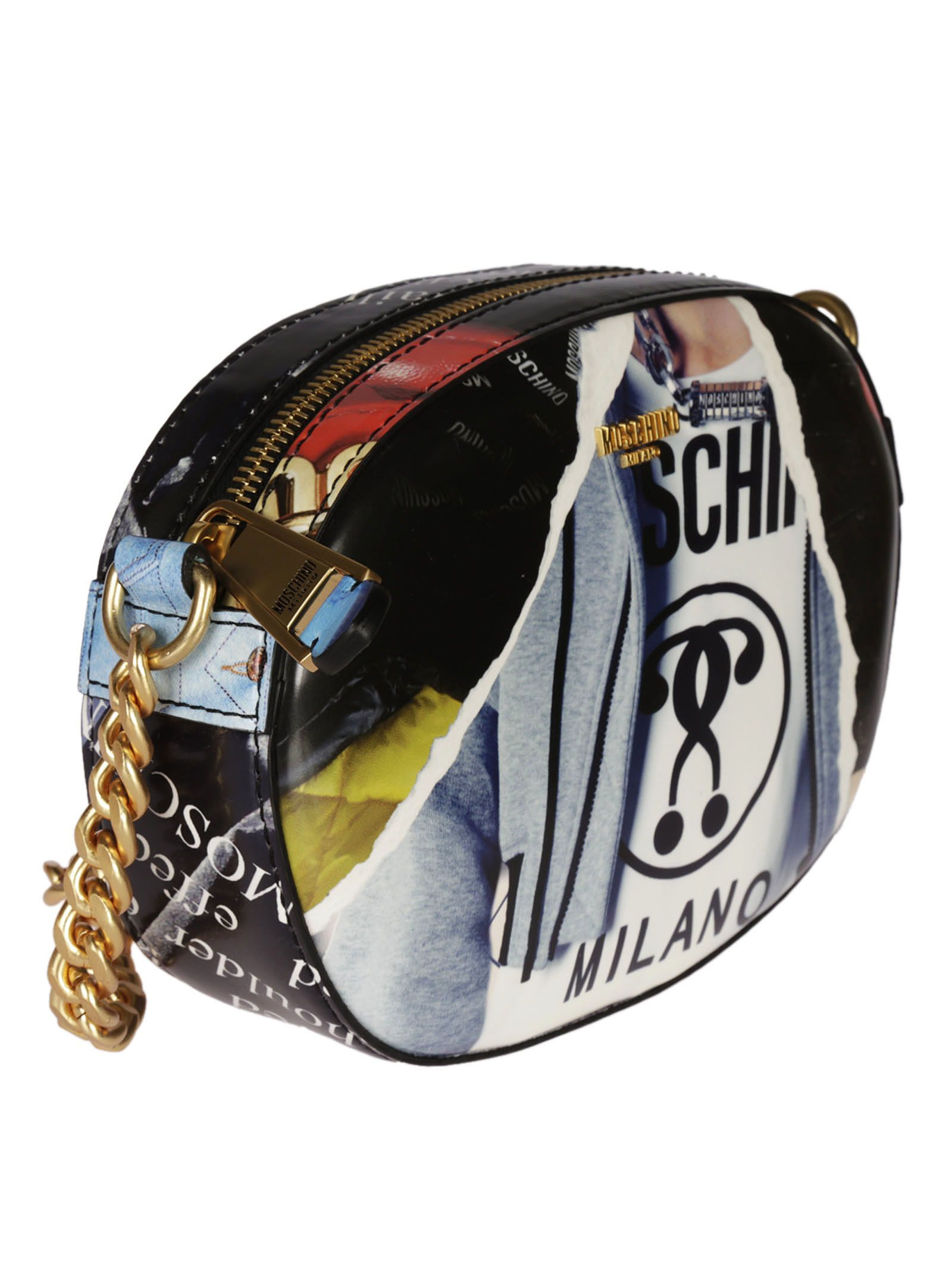 Moschino Moschino Editorial Print Shoulder Bag Multicolor