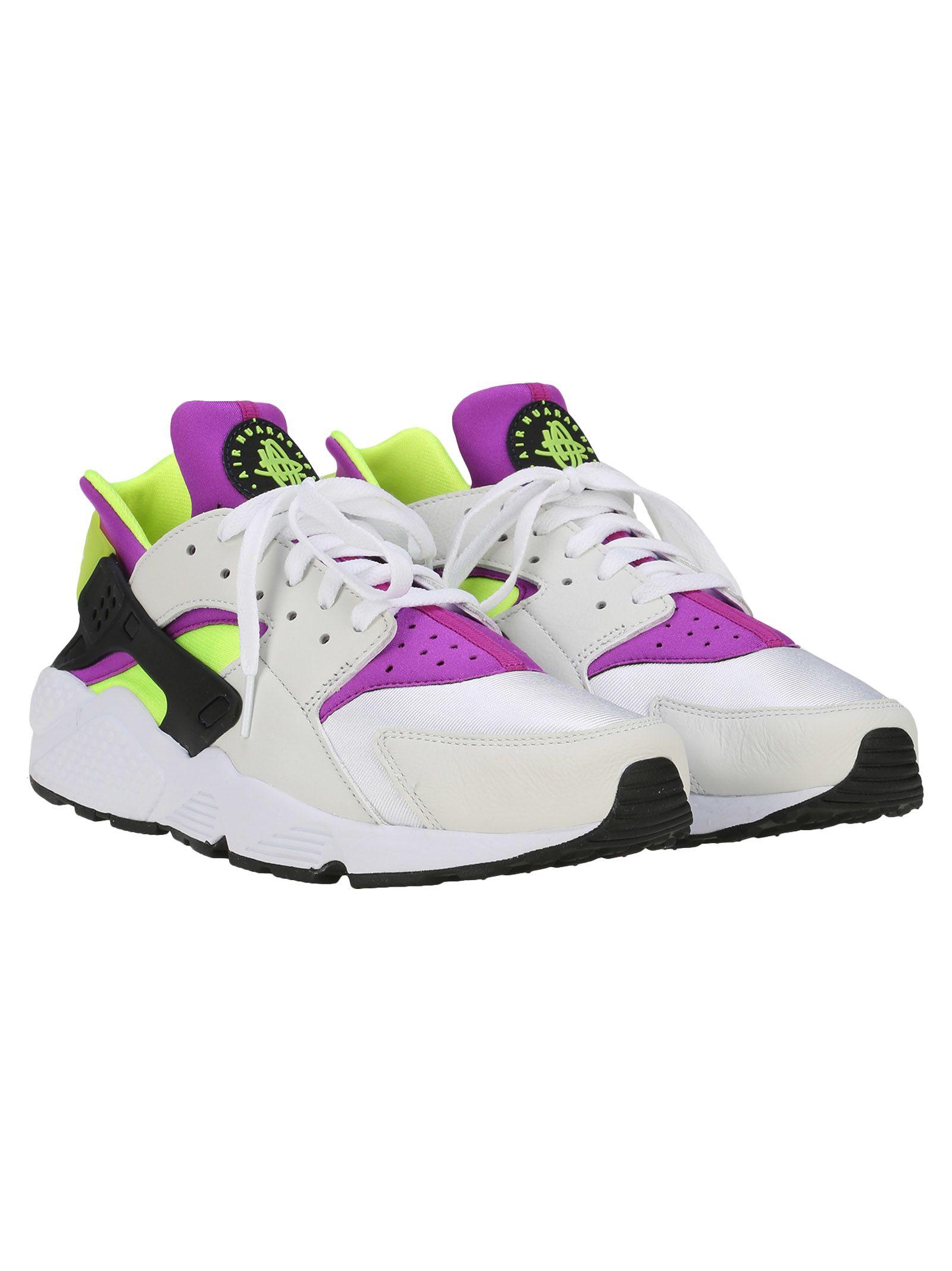 f338ada60494b ... Nike Ltd Nike Air Huarache Run 91 Qs - WHITE   BLACK   NEONYELLOW ...