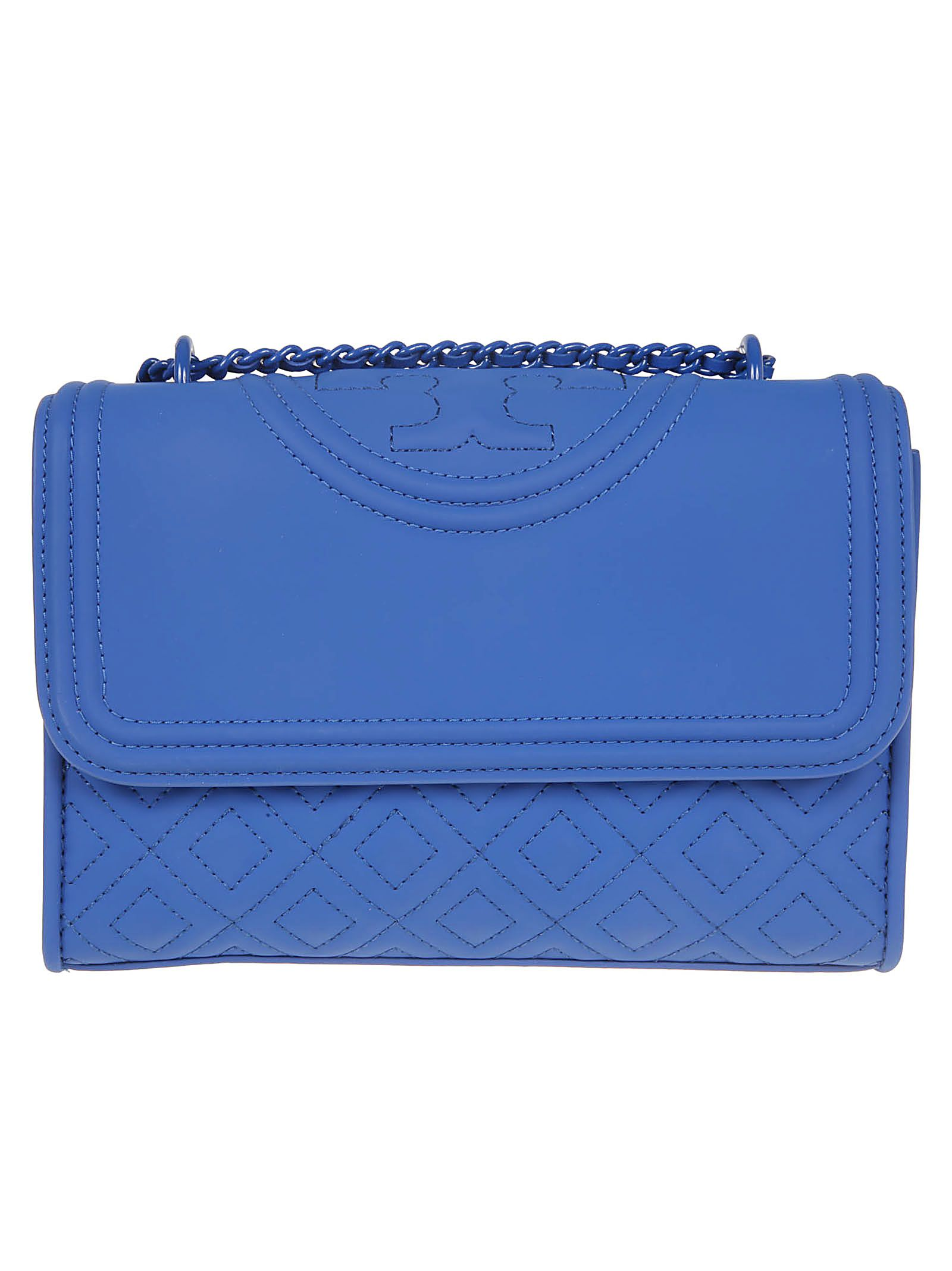 4119a958e9c7 Tory Burch Fleming Matte Small Convertible Shoulder Bag - Mediterranean  Blue ...