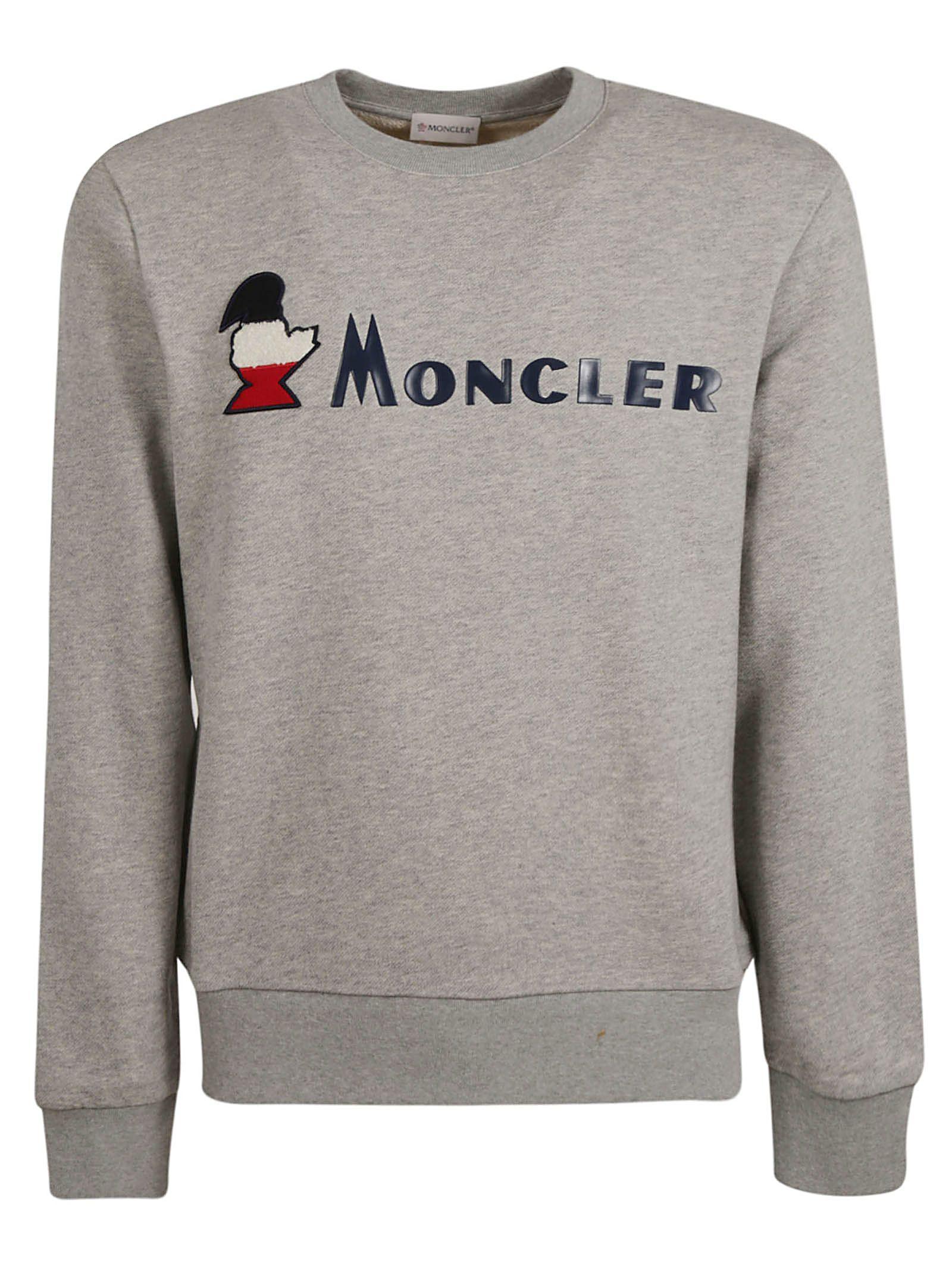 bac96ccc0 Moncler Moncler Logo Printed Sweatshirt - Gray - 10847555