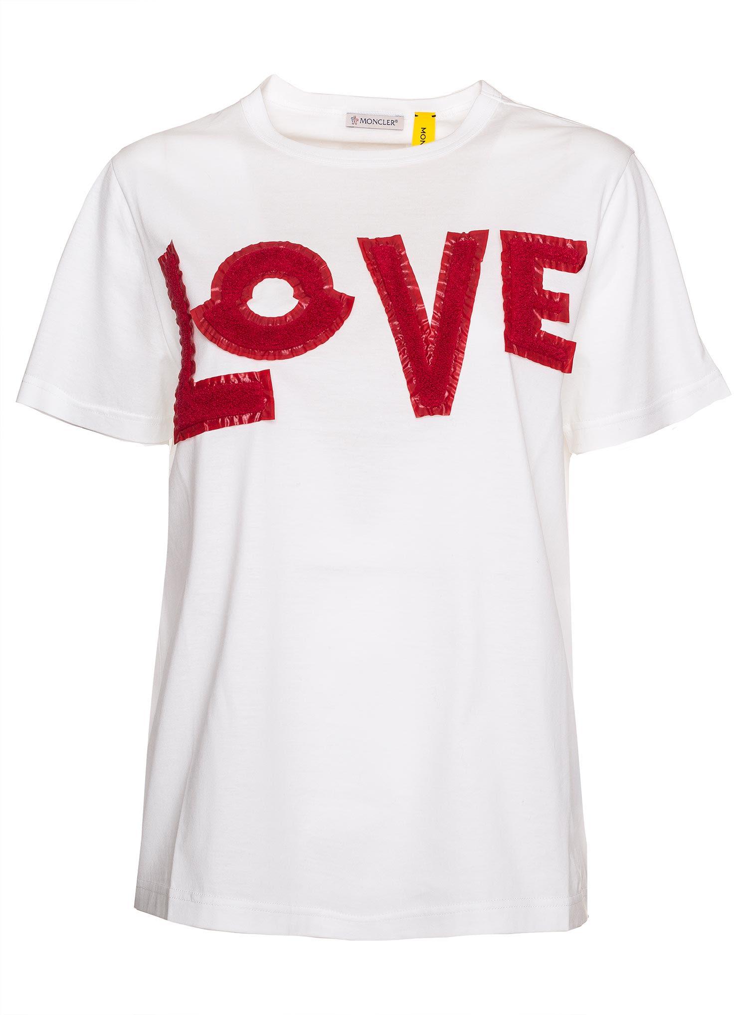 af18f6fd Moncler Genius 2 Moncler 1952 T-shirt In White - BIANCO - 10854646 ...