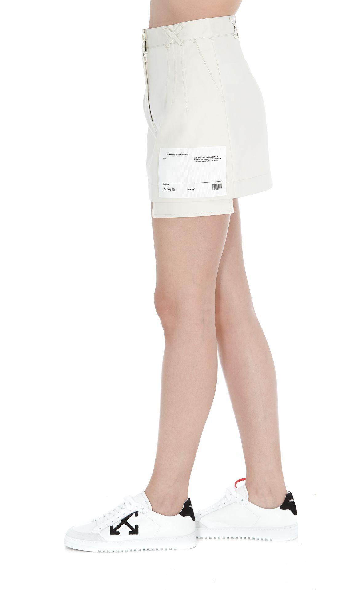 912186a47 Off-White Off-white Cotton Pockets Mini Skirt - White - 10966660 ...