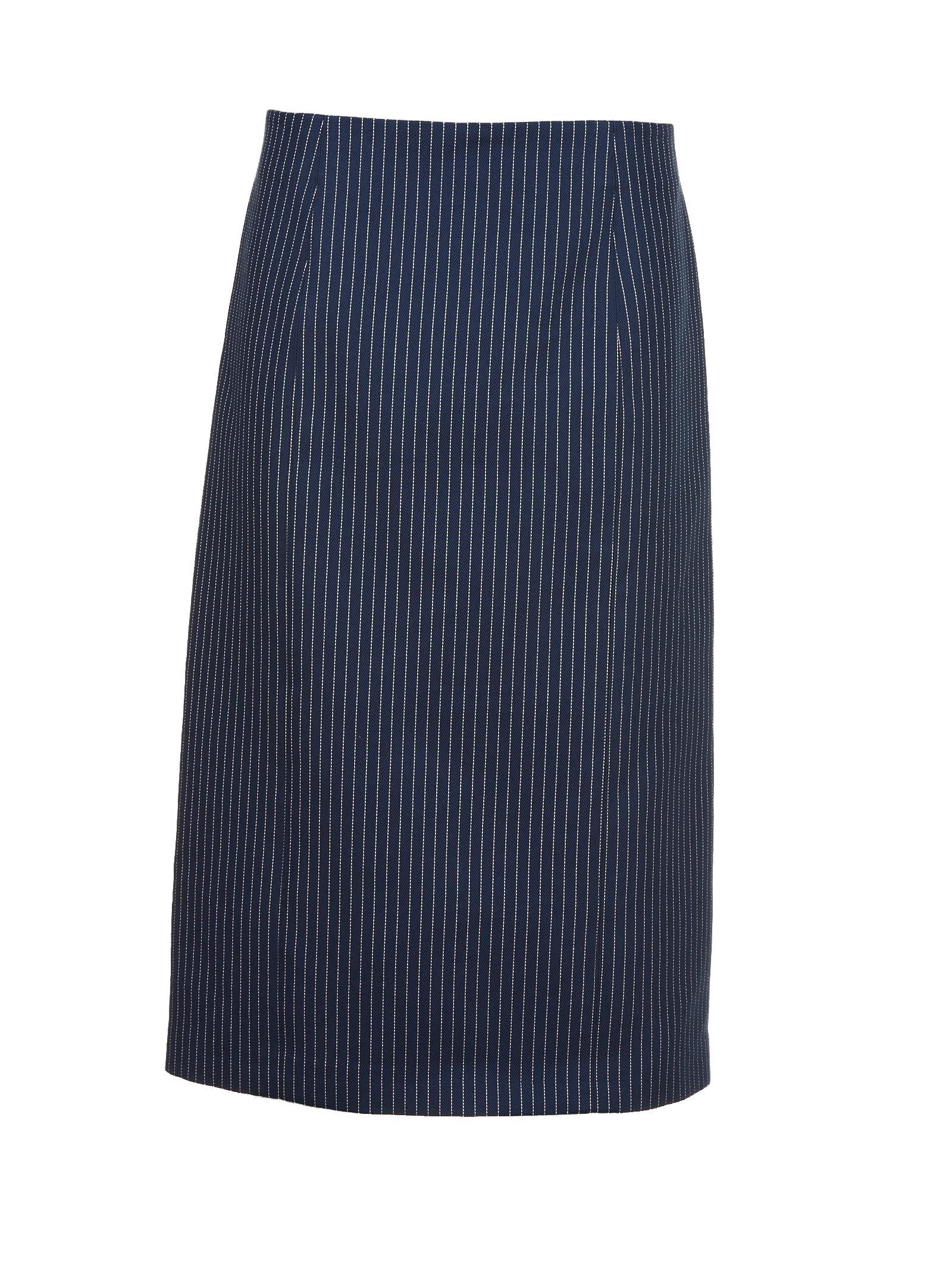 3a18e0c1c126 Fendi Fendi Pinstripe Midi Skirt - Blue - 10584933