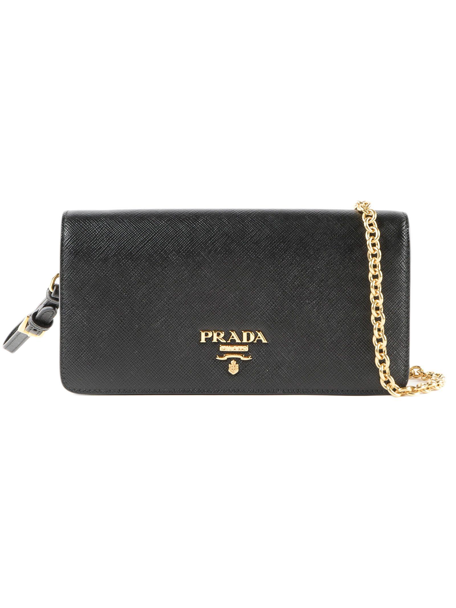 bf527e1fac Prada Prada Mini Saffiano Shoulder Bag - Black - 10804015