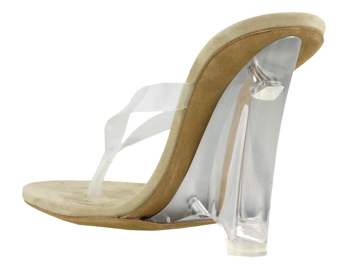 70be228ac Yeezy Yeezy Wedge Thong Sandals In Soft Pvc - Clear - 10914636