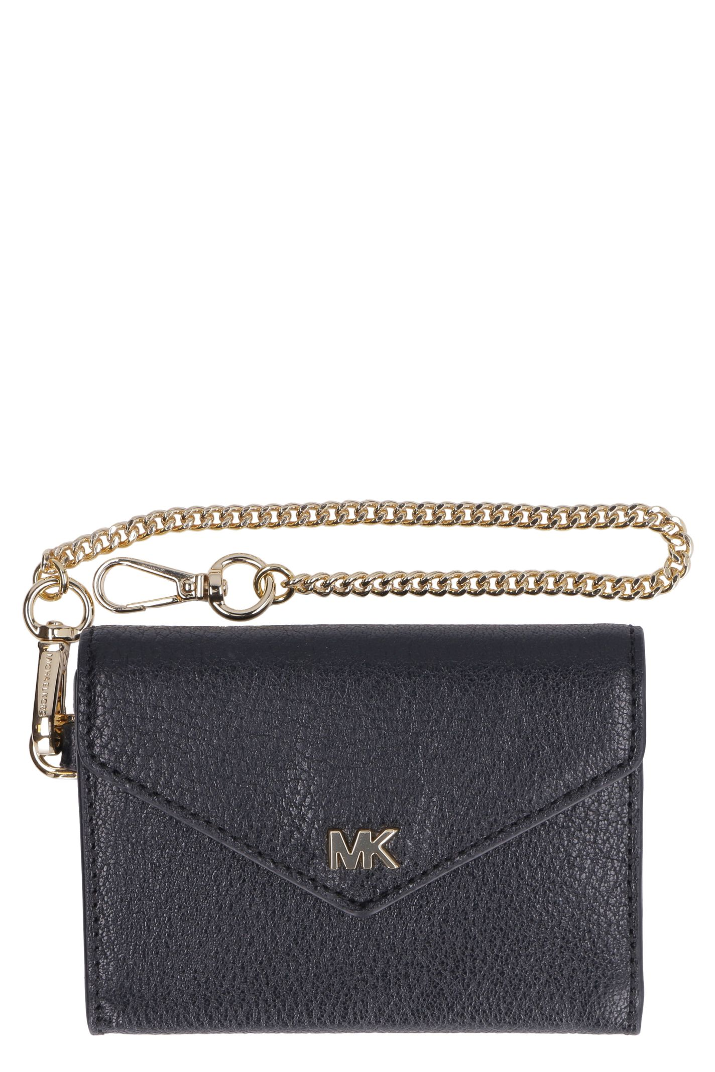 01ded632463775 Michael Kors Money Pieces Small Flap-over Leather Wallet - black ...