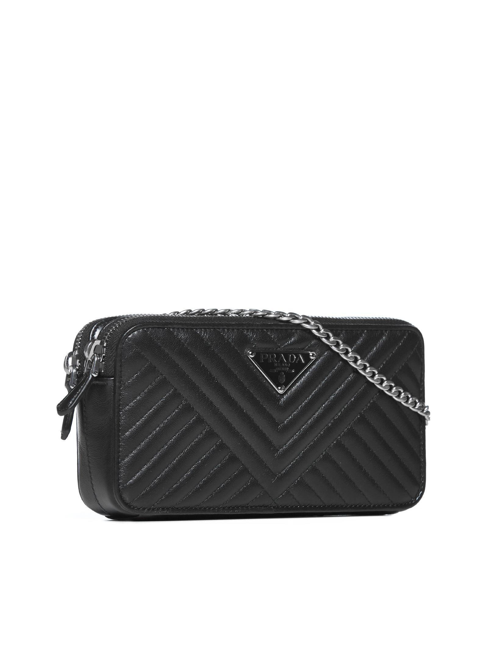 64ec8a494689 Prada Quilted Shoulder Bag - Nero Prada Quilted Shoulder Bag - Nero ...