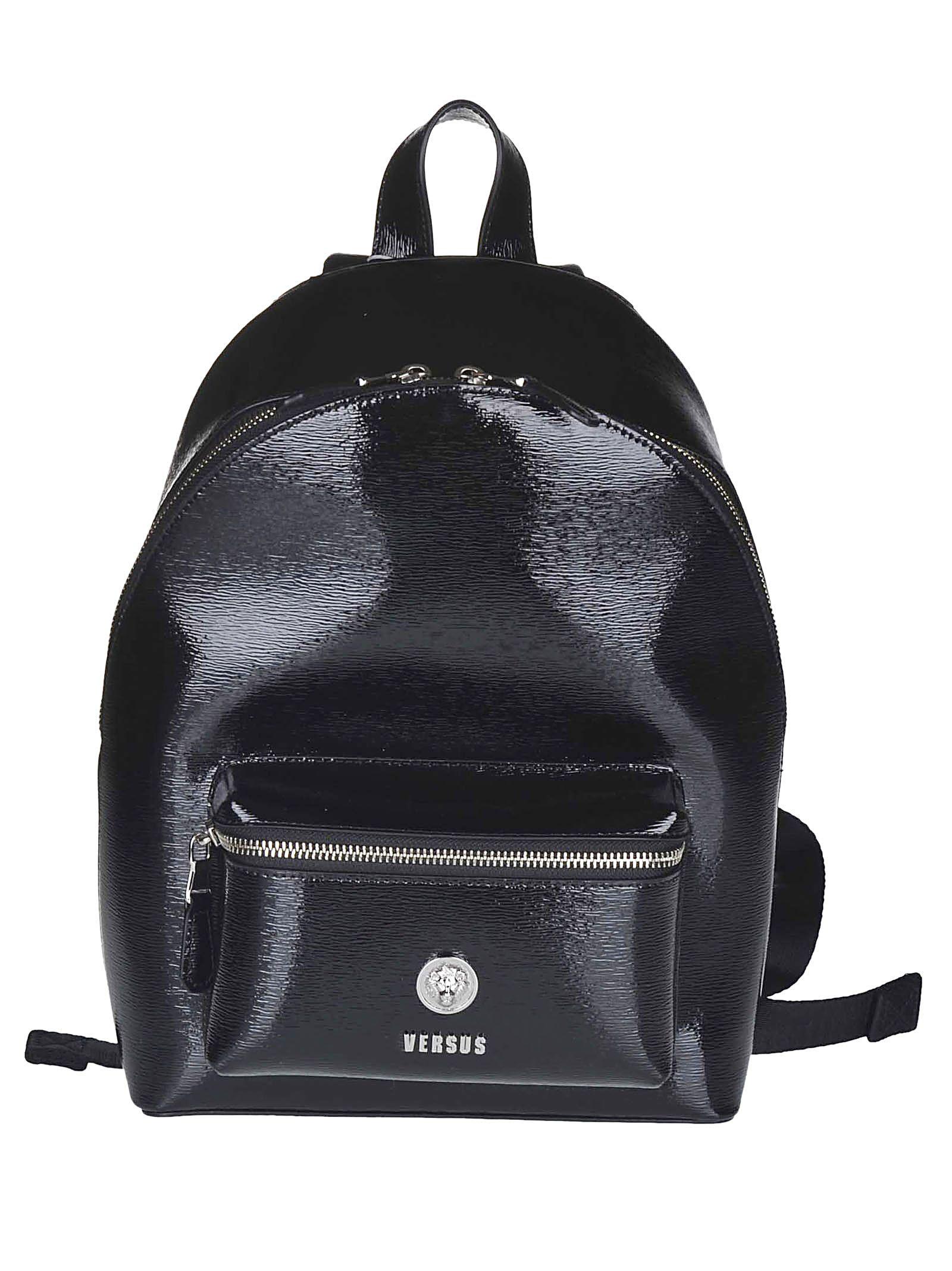 477965e33e7f Versus Versace Versus Versace Logo Plaque Backpack - Black ...