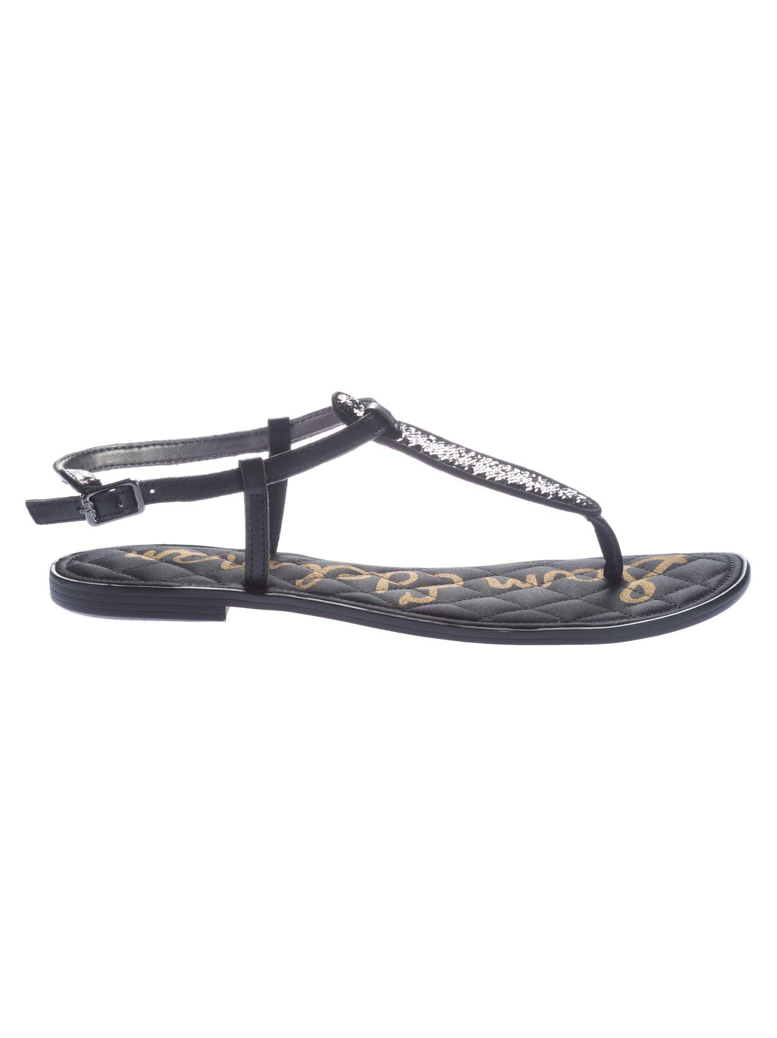 cea1cf4c498b Sam Edelman Sam Edelman Gigi Thong Flat Sandals - Black - 10578851 ...