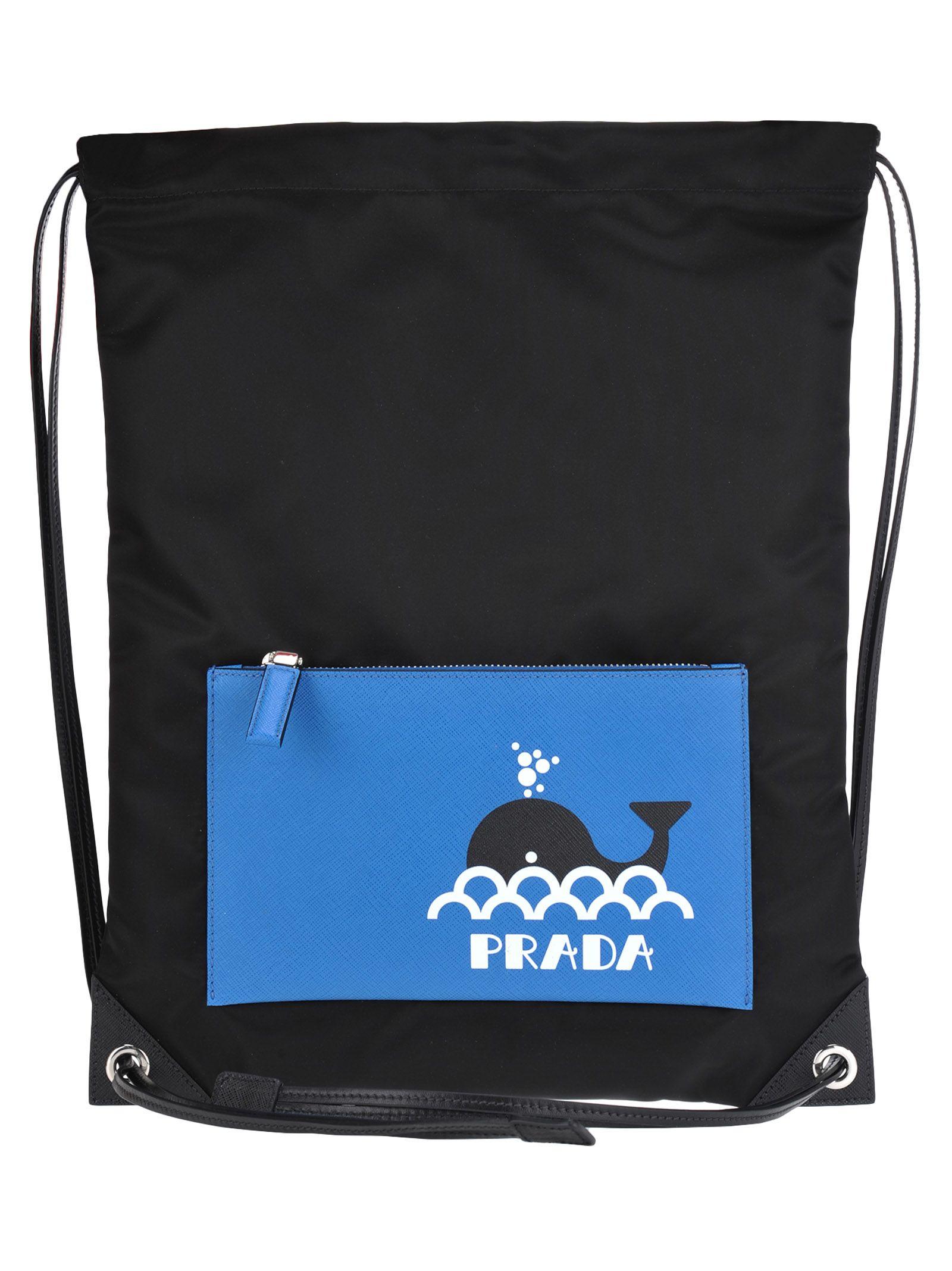efe8f30a37b7 Prada Prada String Backpack Seahorse - BLACK - 10918601