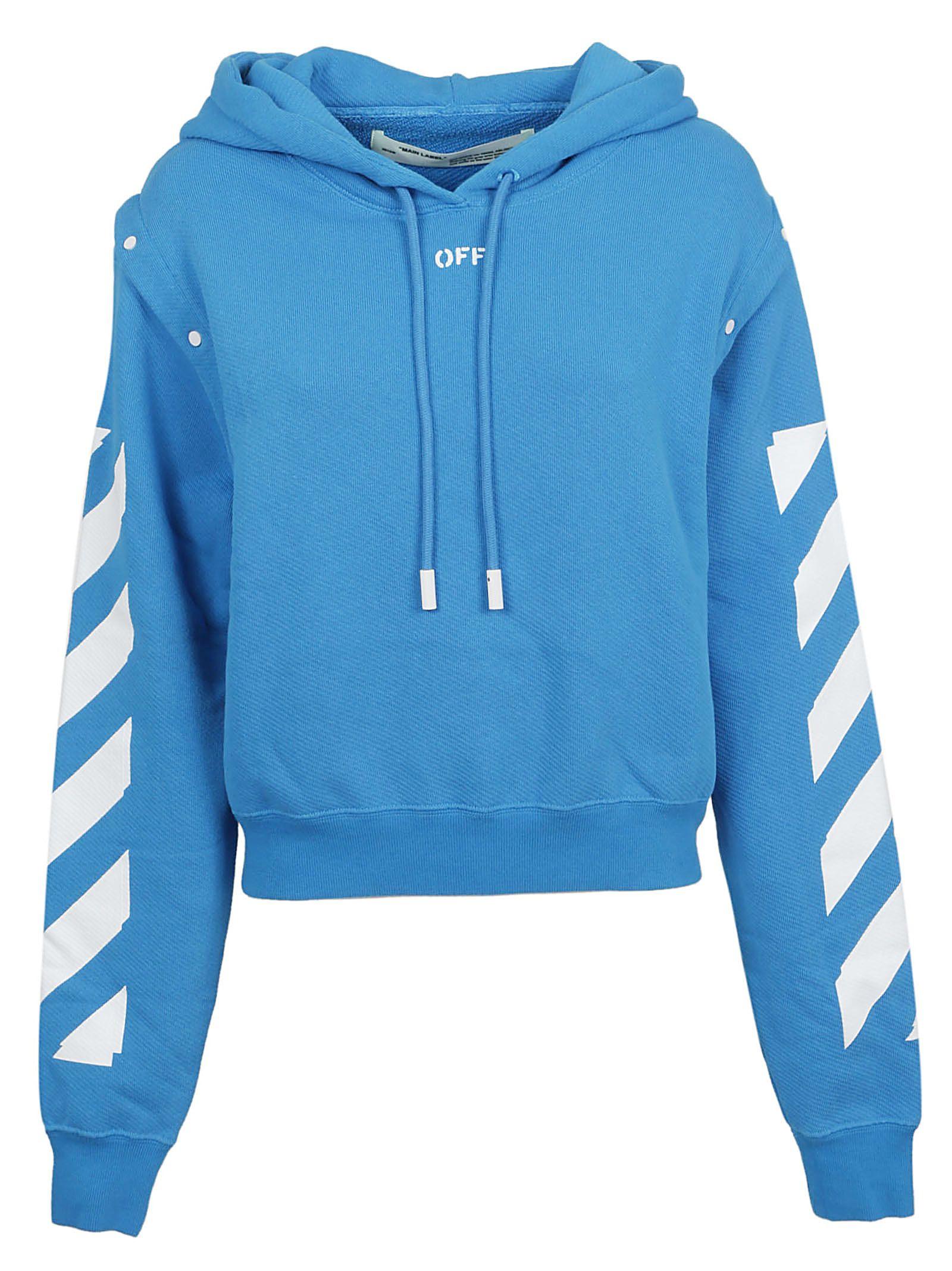 Off-White Off-white Diagonal Stripe Hoodie - Blue Whitw - 10830661 ... 7713d1b1c
