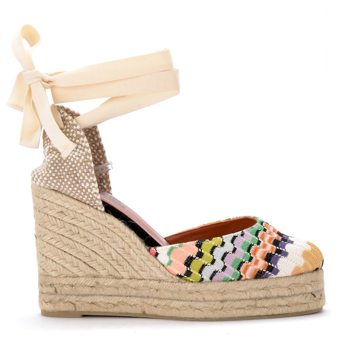 67996be5f009e Castañer Castañer By Missoni Carina Multicolor Sandal With Wedge ...