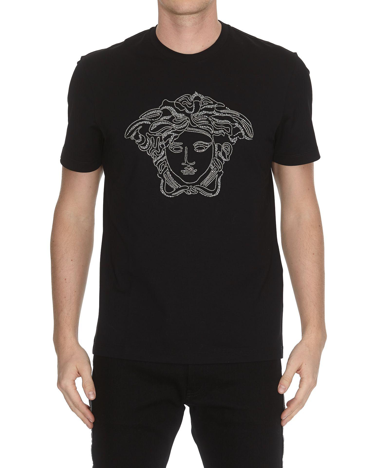 bceb9506 Versace Versace Studded Medusa T-shirt - Black - 10777569 | italist