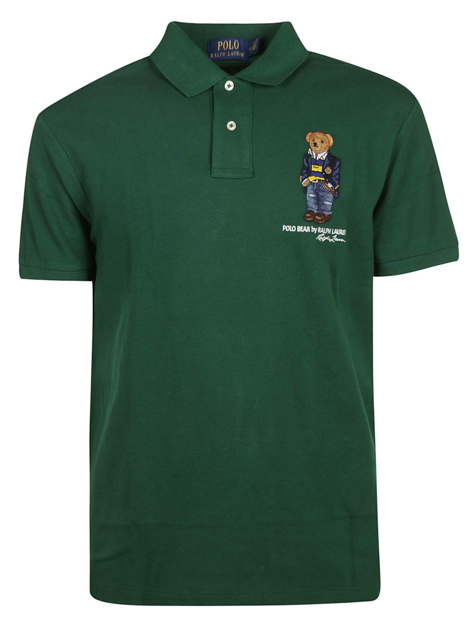 81123cd68 Ralph Lauren Ralph Lauren Bear Print Polo Shirt - Green - 10811724 ...